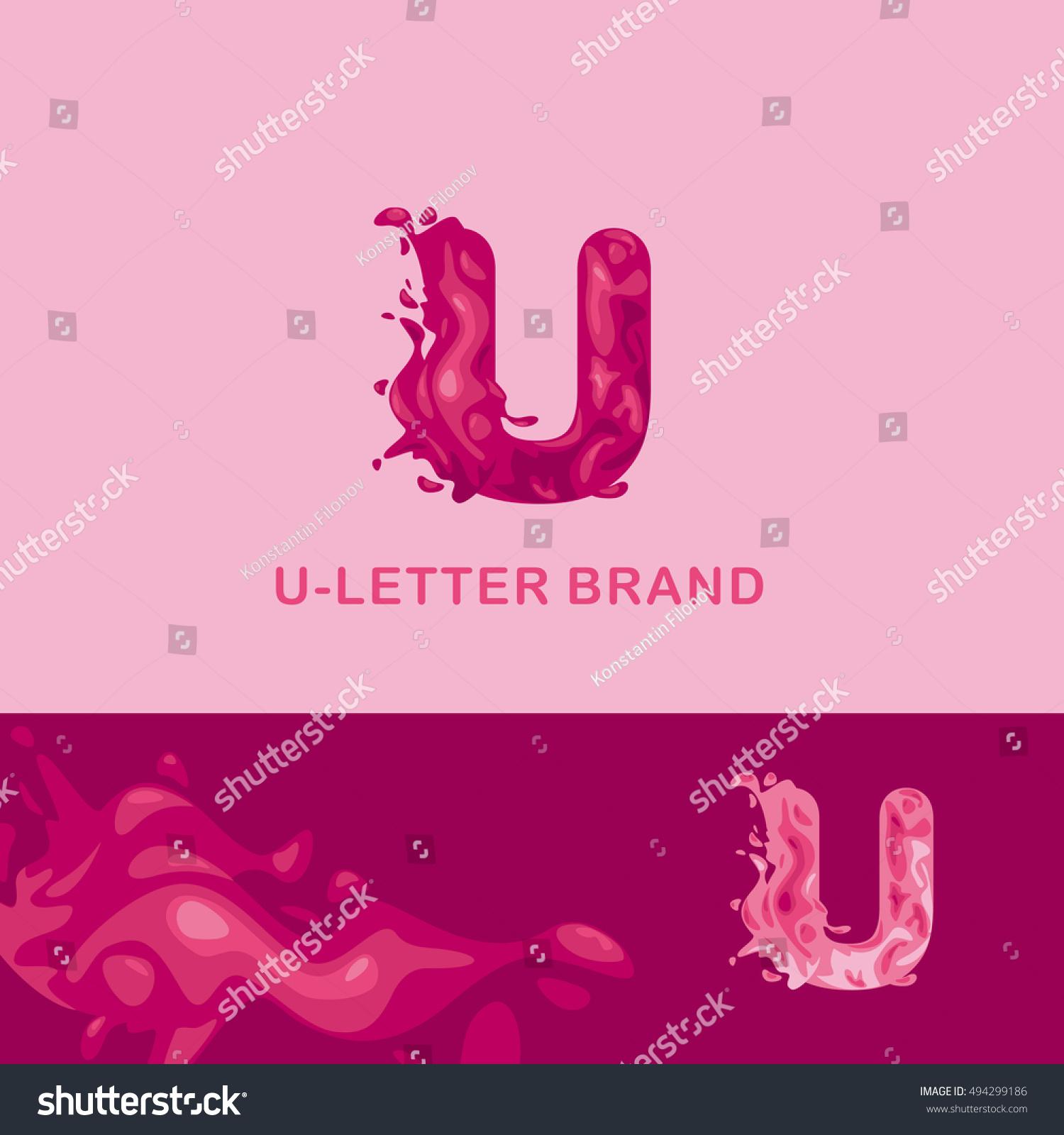 Creative Logo Corporate Identity Liquid Letter Stock Vector (Royalty ...