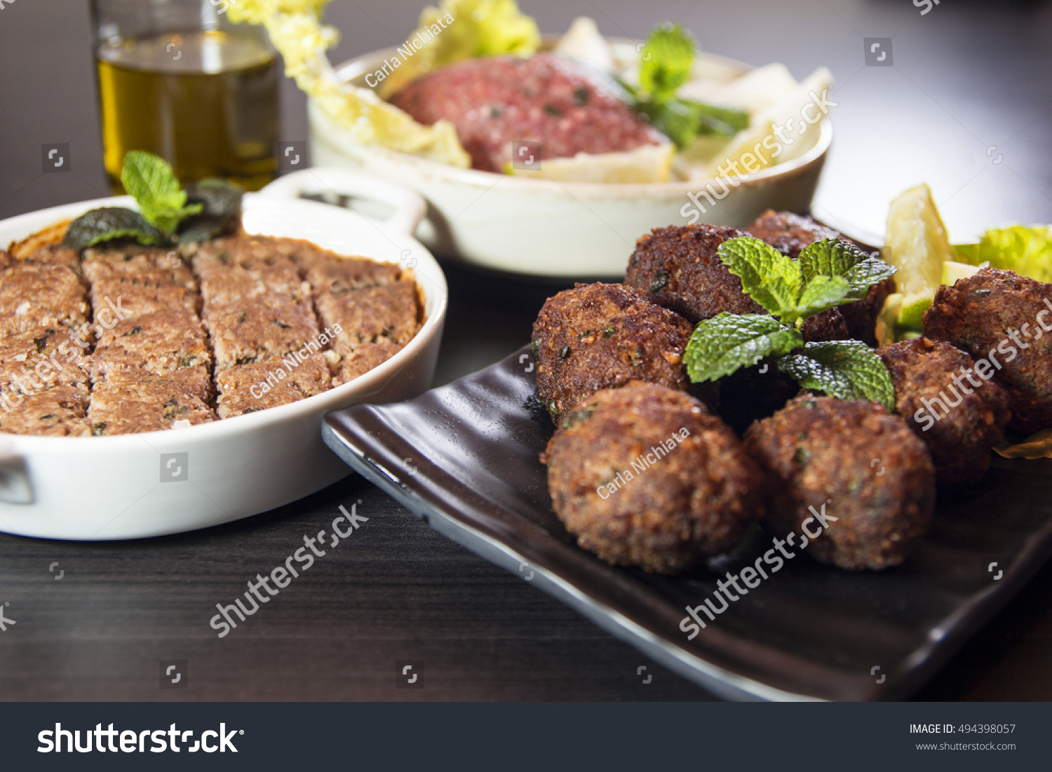 Kibbeh lebanese food made bulgur onions stock photo edit now kibbeh lebanese food made of bulgur onions and lamb or beef spices and peppermint forumfinder Image collections
