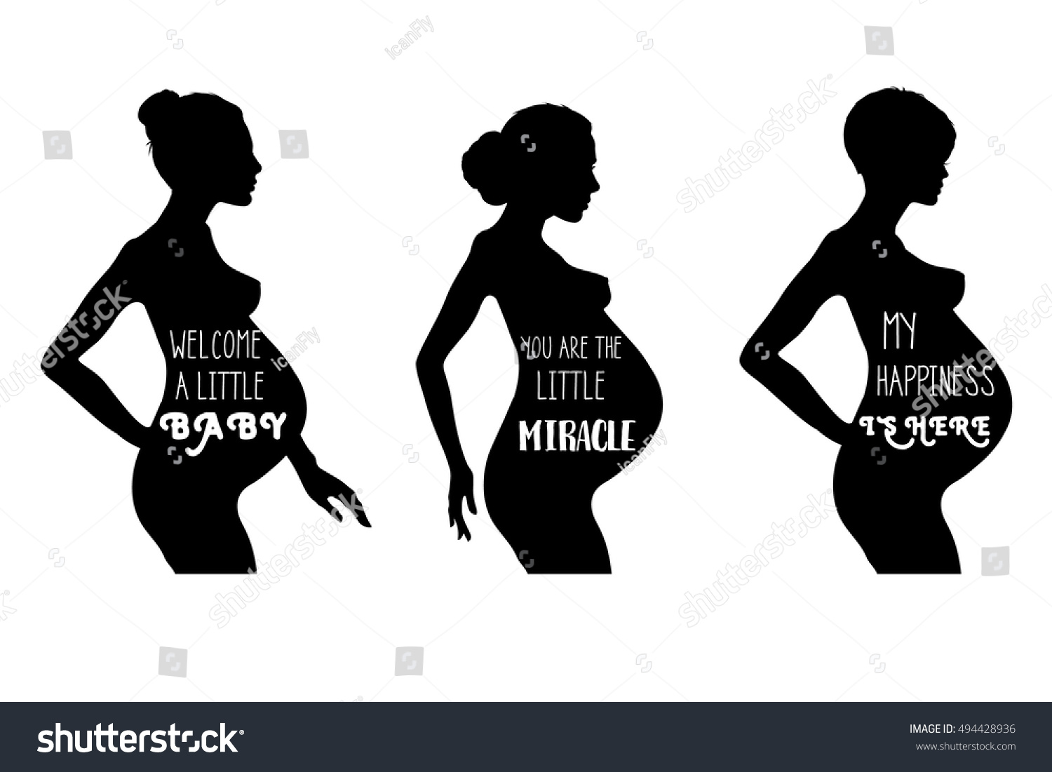 Pregnant Women Vector Illustration Eps 10 My Stock Vector Royalty