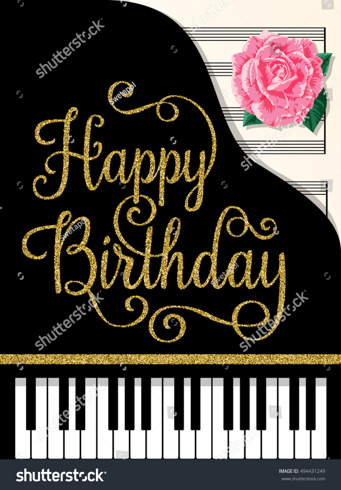 Happy Birthday Greeting Cards Design Classic Stock Vector Royalty