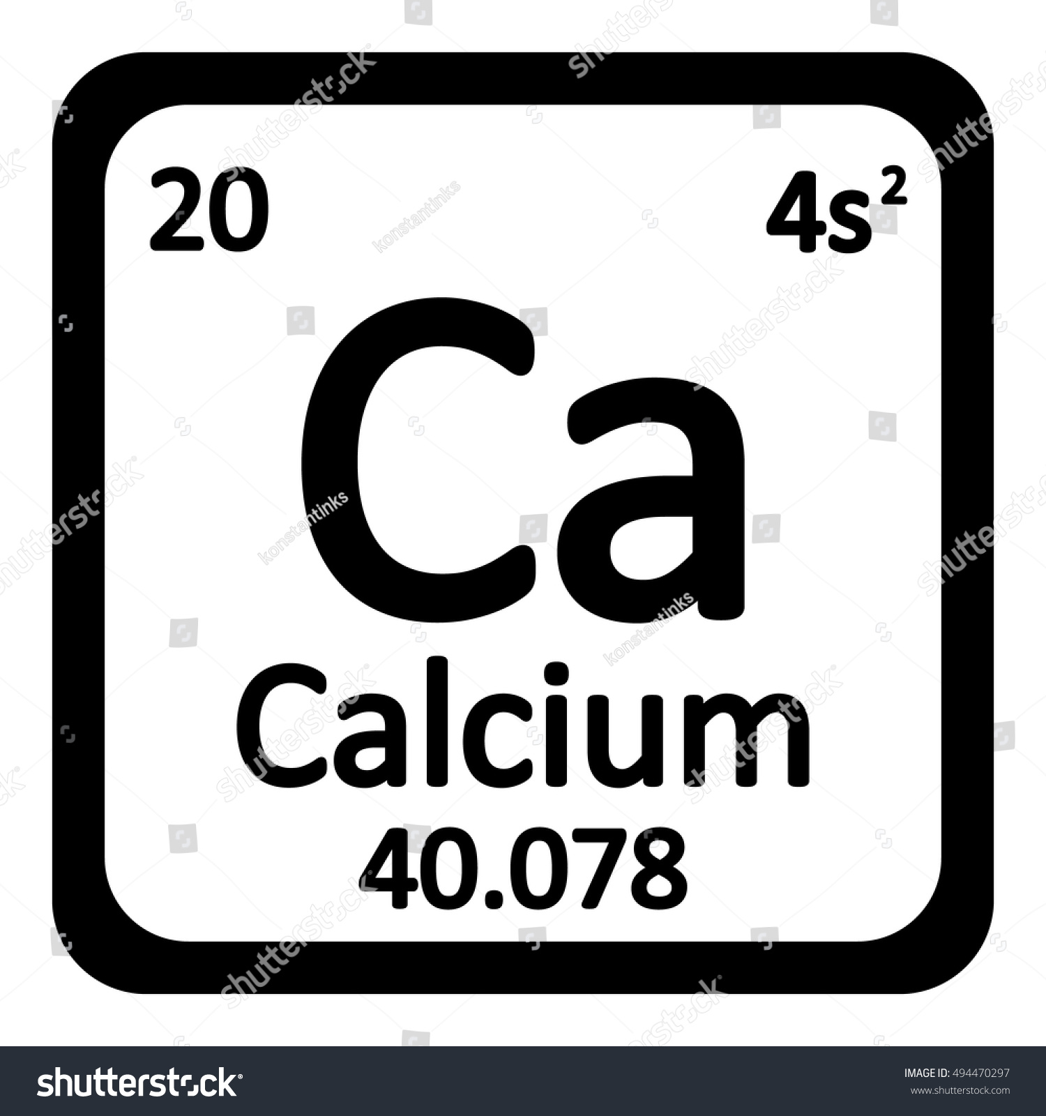 Periodic table element calcium icon on stock vector 494470297 periodic table element calcium icon on white background vector illustration gamestrikefo Choice Image