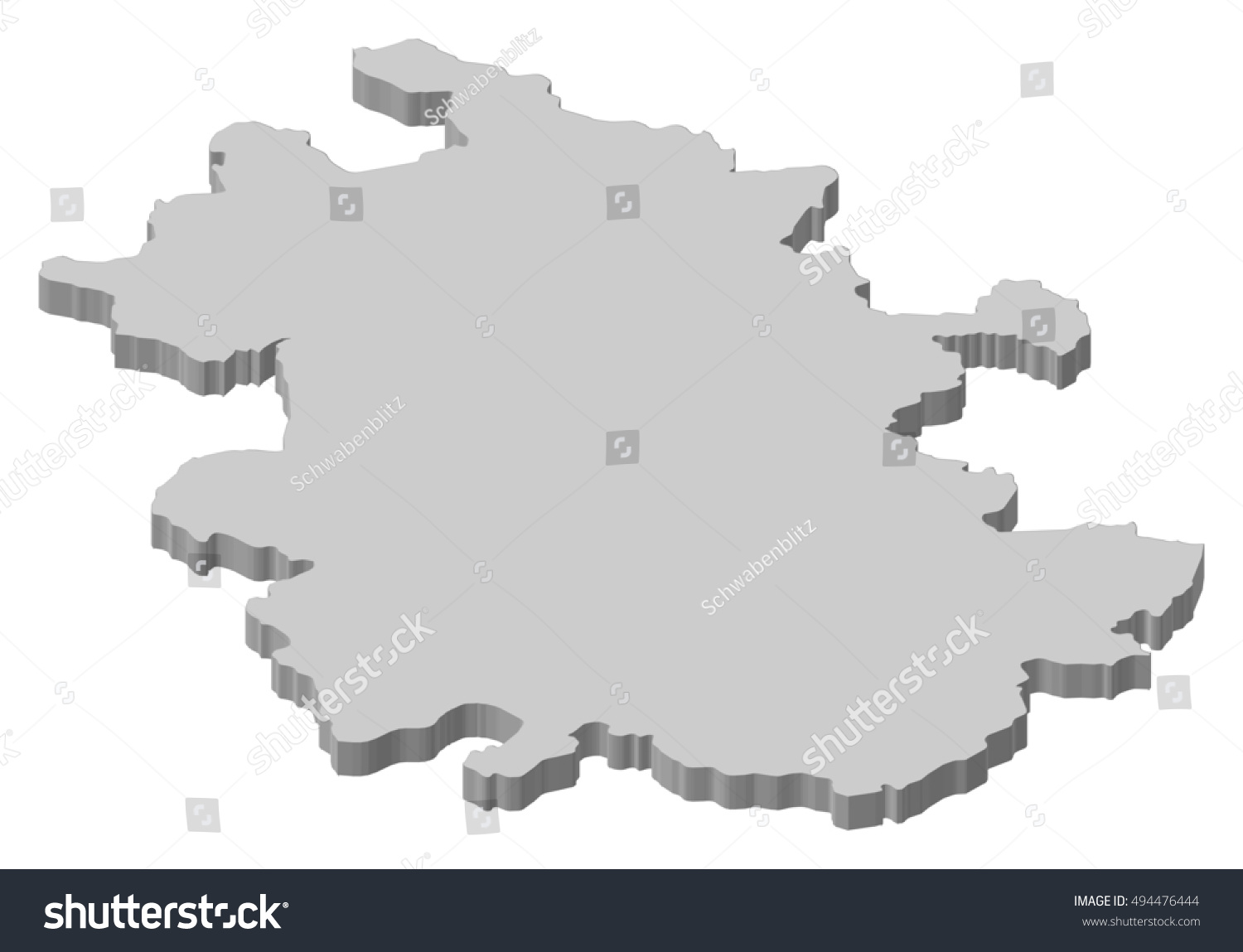Map Anhui China 3 D Illustration Stock Vector Royalty Free