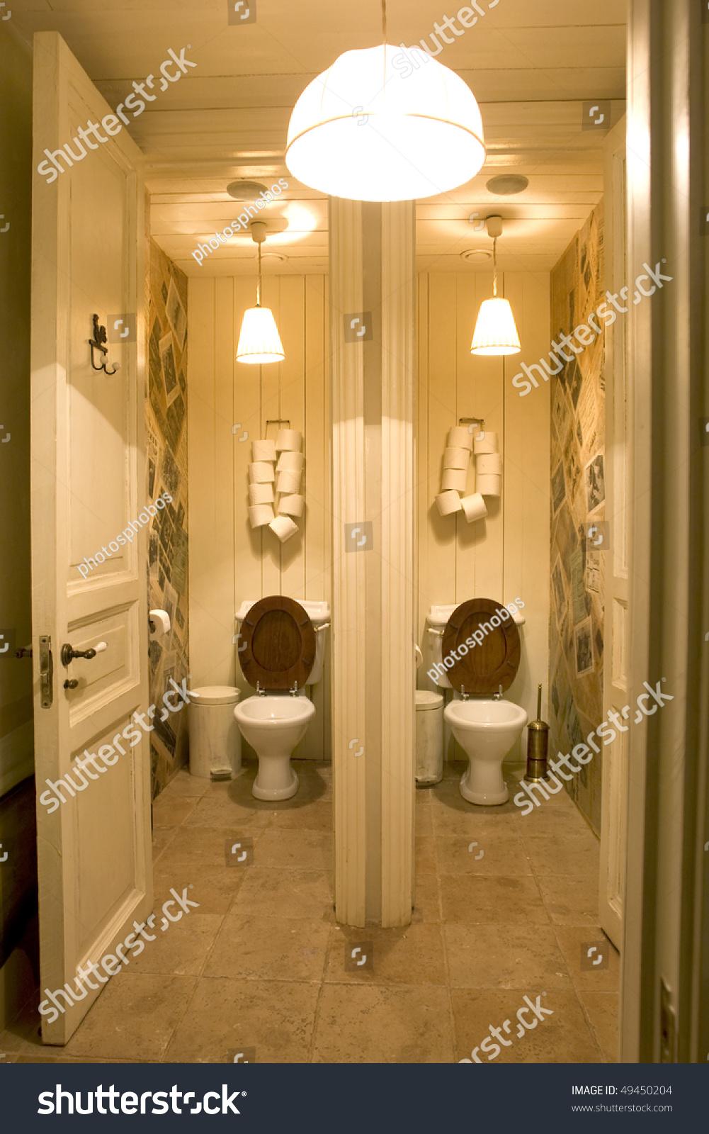Bathroom Public Place Two Toilets Stock Photo (Edit Now) 49450204 ...
