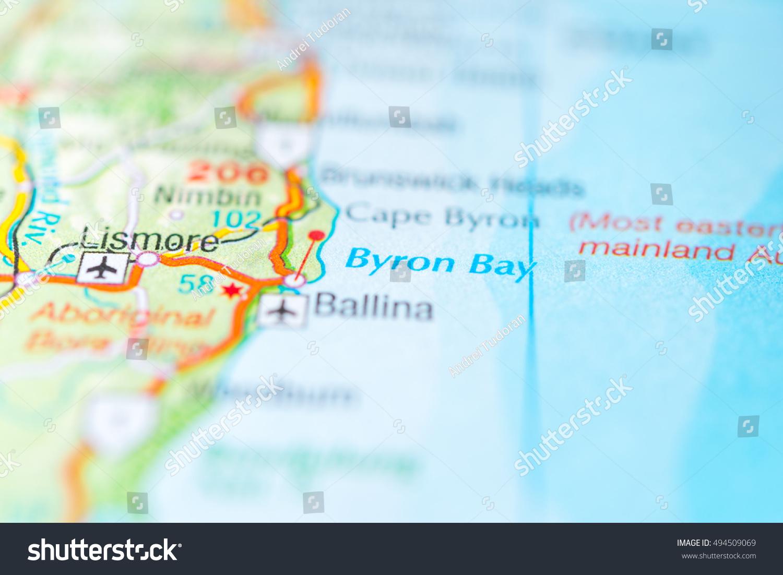 Australia Map Byron Bay.Byron Bay Australia Stock Photo Edit Now 494509069 Shutterstock