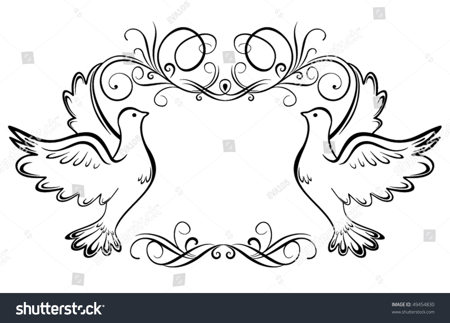 Wedding Frame Stock Vector 49454830 Shutterstock