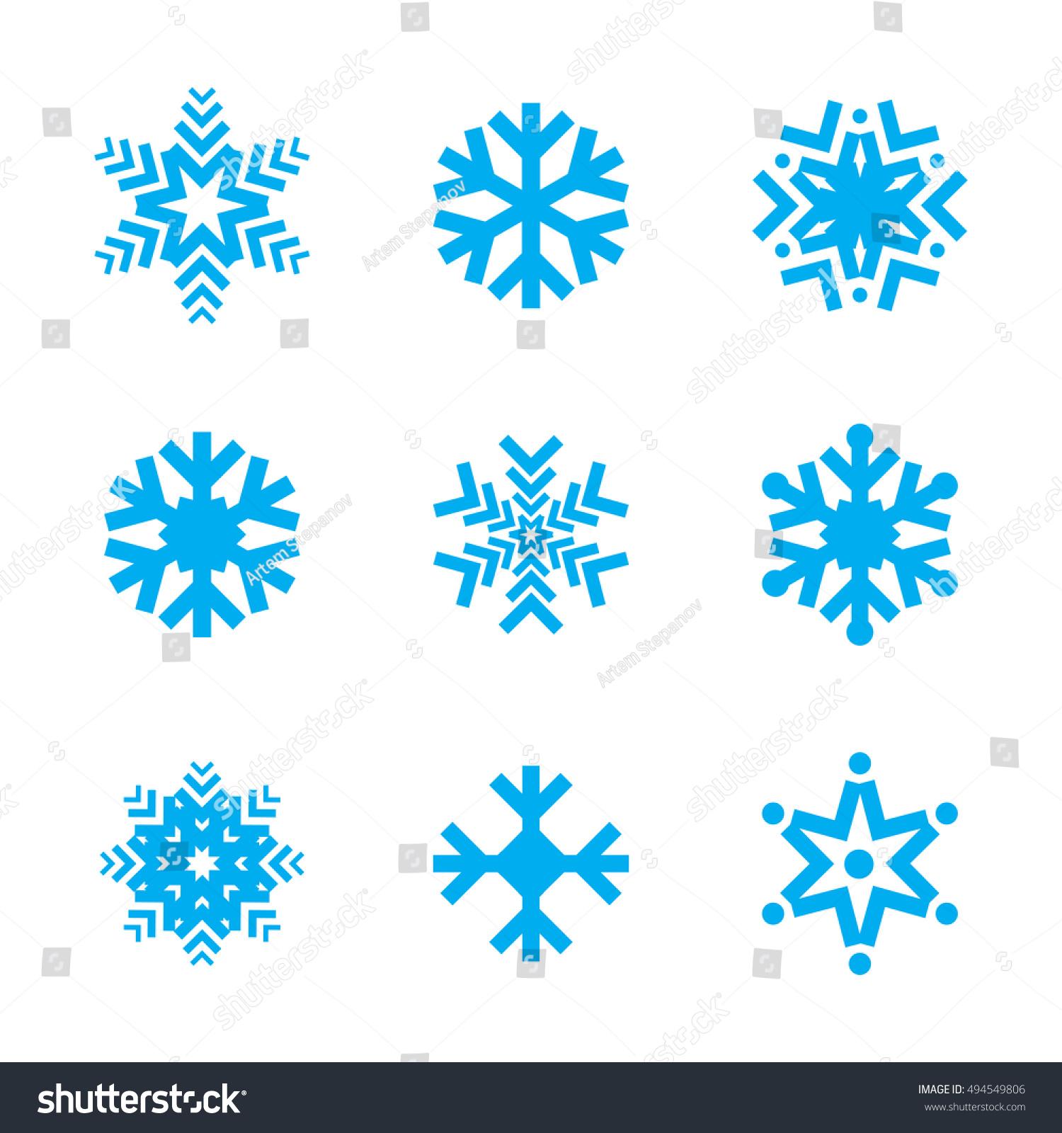 blue snow flake winter vector icon のベクター画像素材 ロイヤリティ