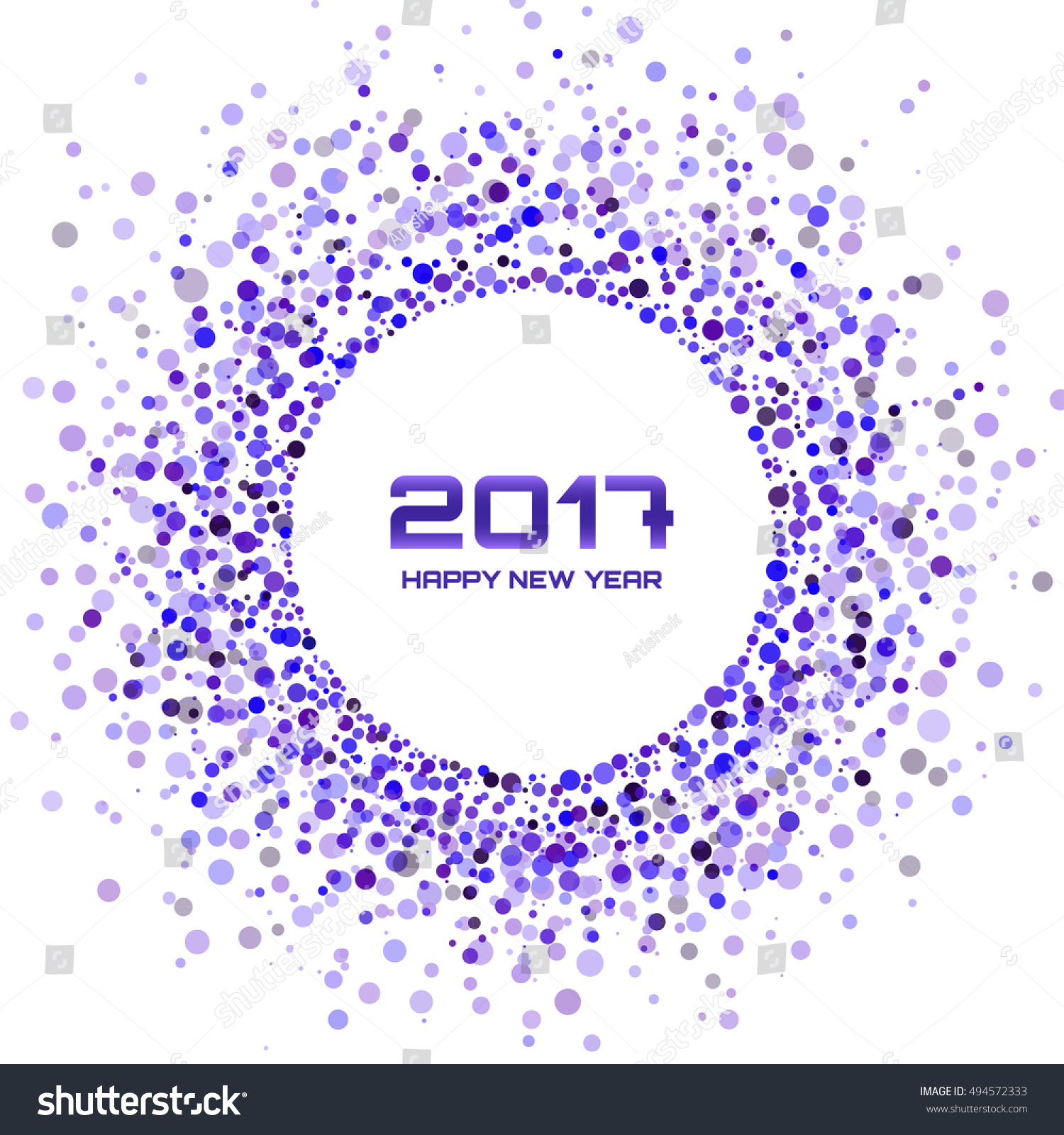 violet circle new year 2017 border on white background transparent confetti circles new year frame