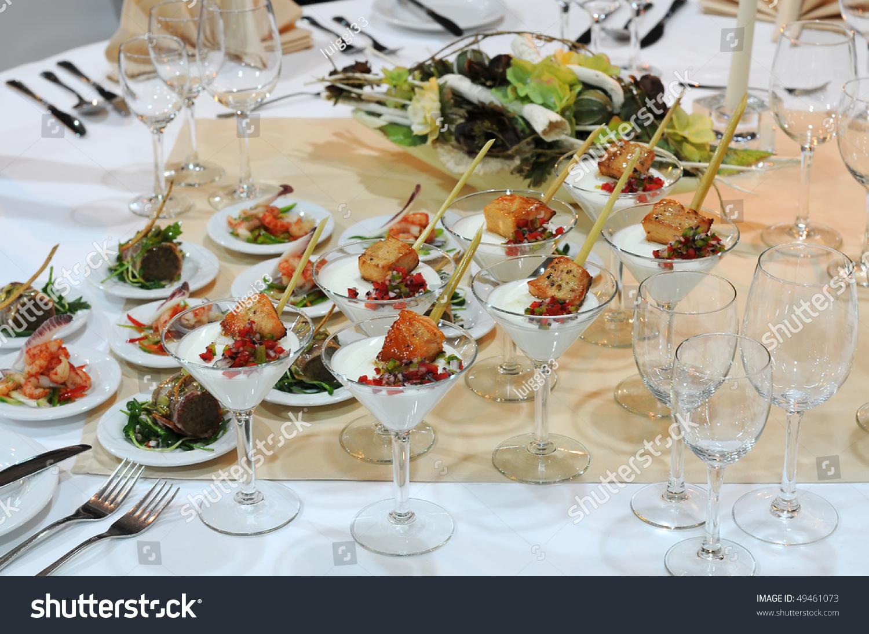 Elegant Table Settings elegant table setting restaurant closeup luxurious stock photo
