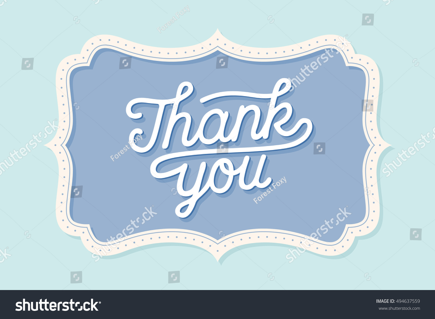 Old Vintage Frame Text Thank You Stock Illustration 494637559 ...