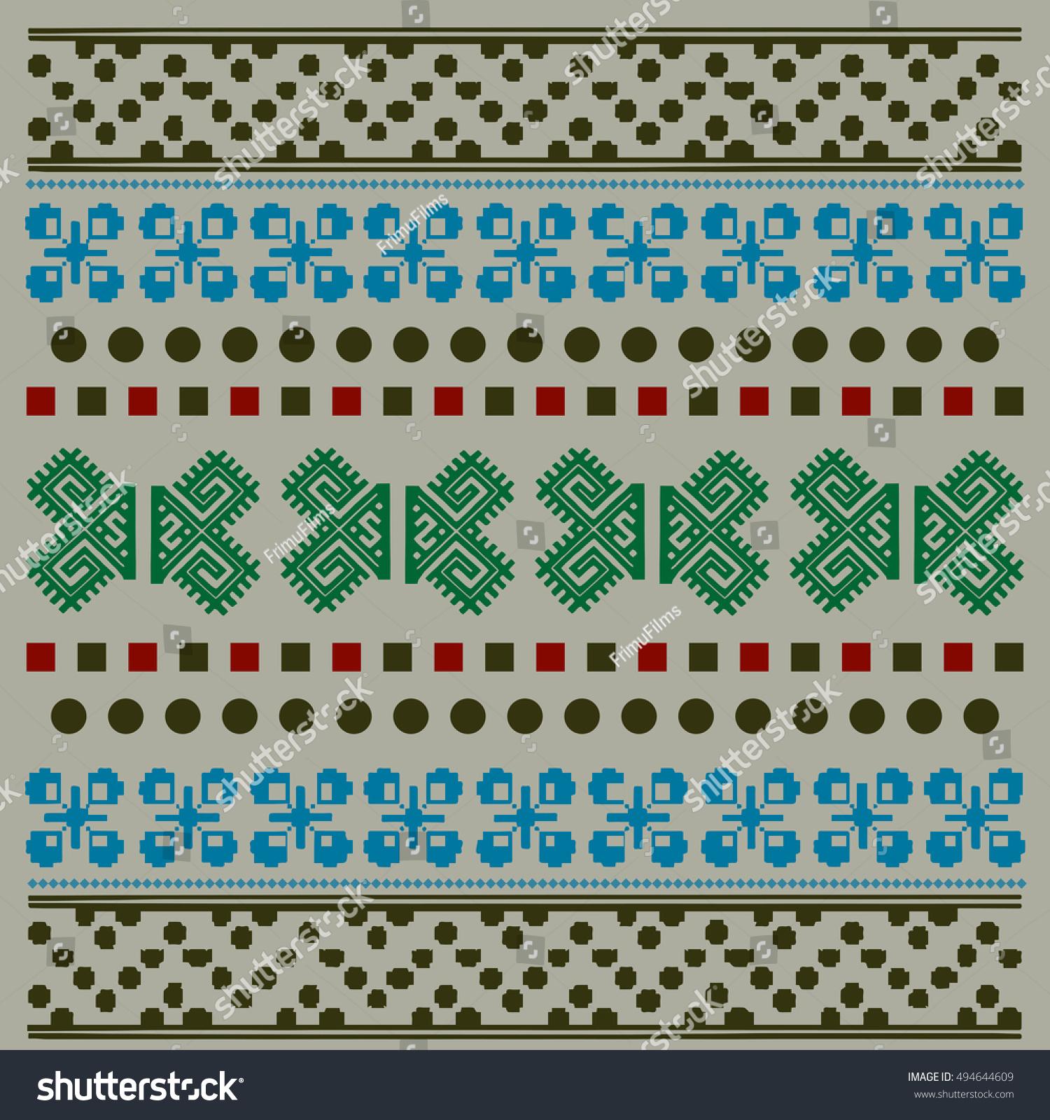 Ethnic National: Ethnic National Ornament. Vintage Nordic Ornament. Retro