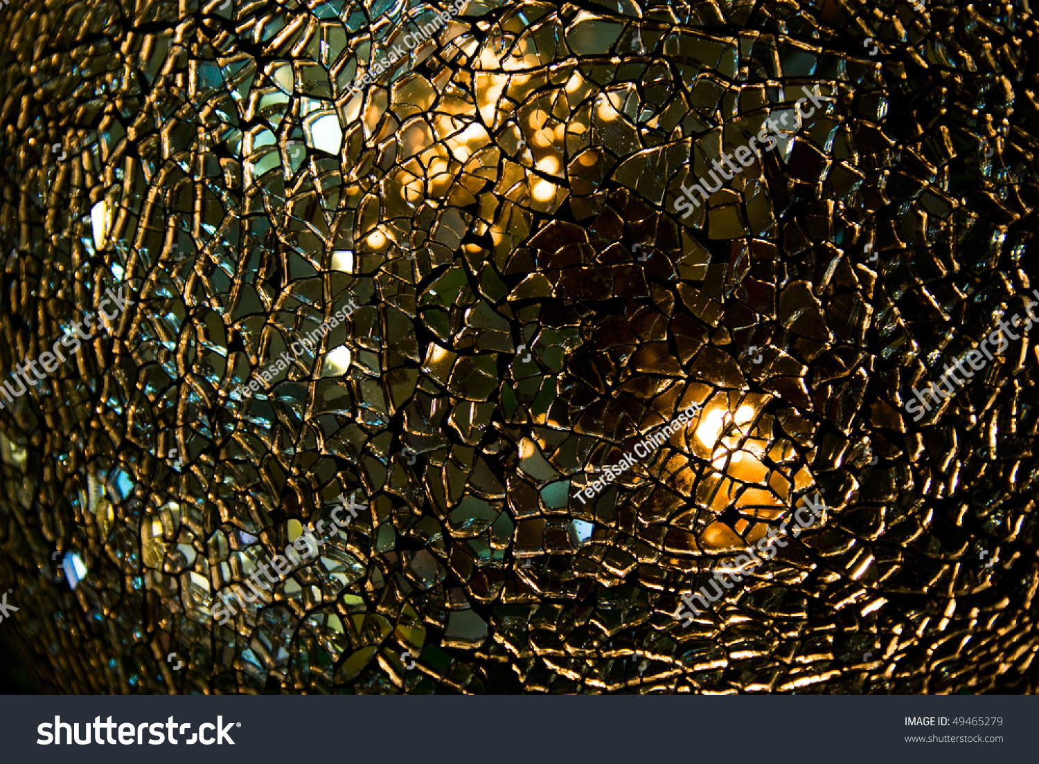 Shattered Glass Ball Texture Crackles Visible Stock Photo ...