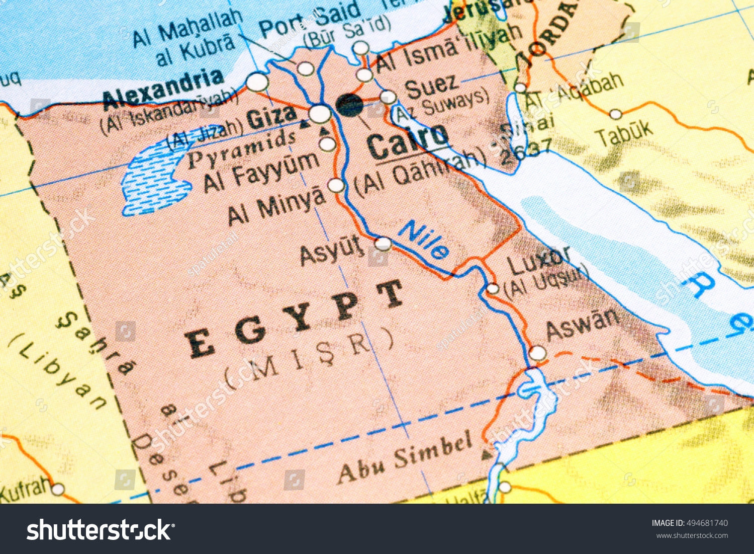 Milan italy may 10 2016 map stock photo download now 494681740 milan italy may 10 2016 map of egypt gumiabroncs Images