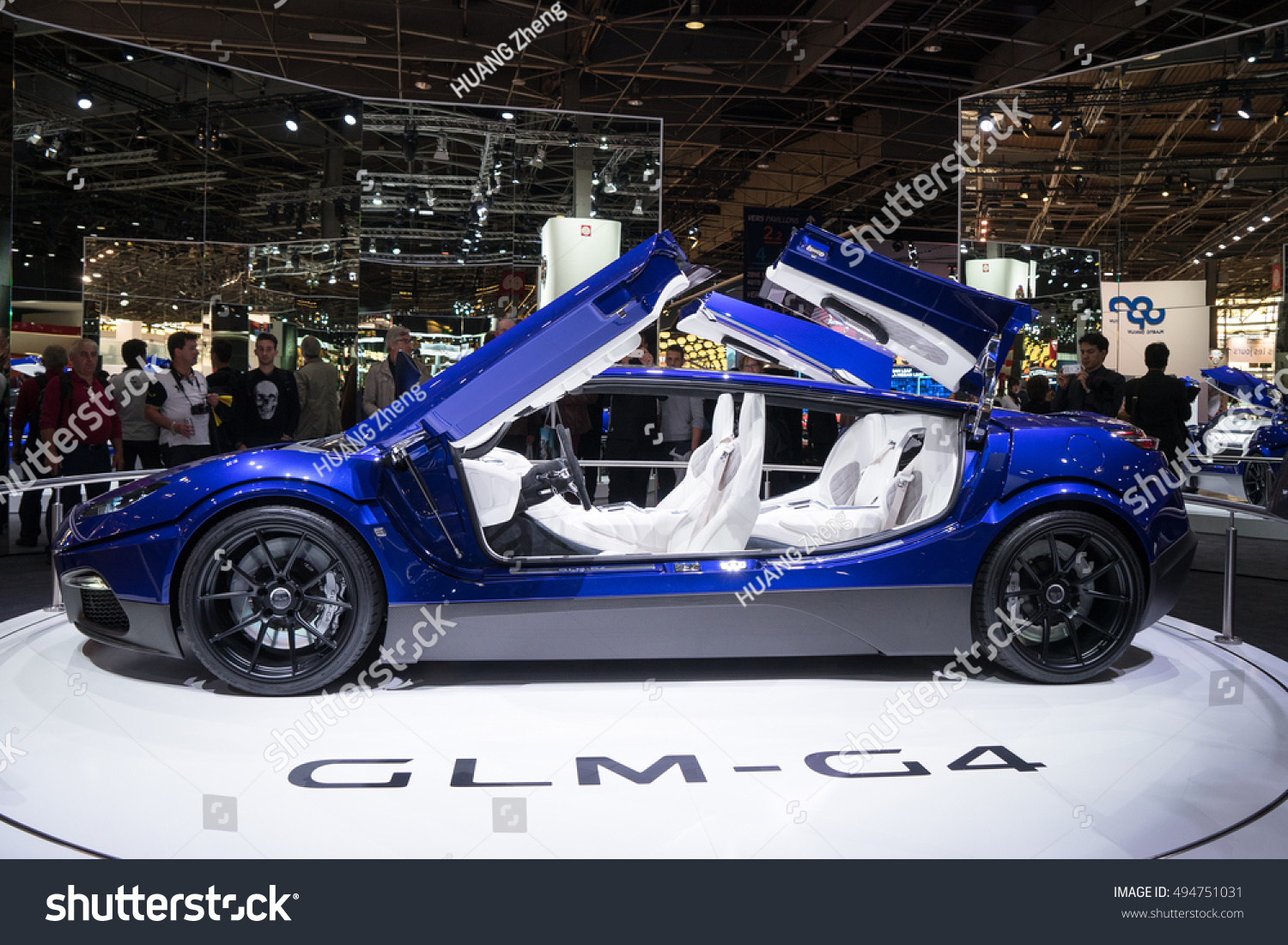 PARIS, FRANCE - OCTOBER 6, 2016: GLM unveils its exotic electric G4 concept