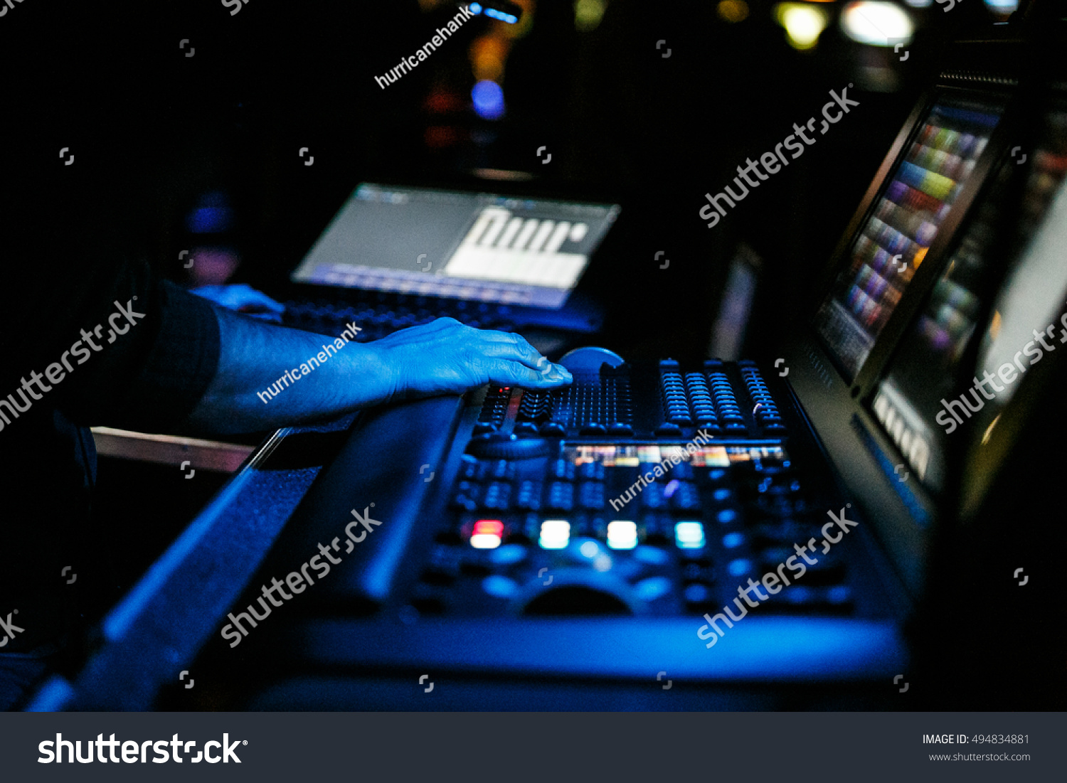 MOSCOW - 6 OCTOBER2016  Concert in night club.Sound technician and lights & Moscow 6 October2016 Concert Night Clubsound Stock Photo 494834881 ... azcodes.com