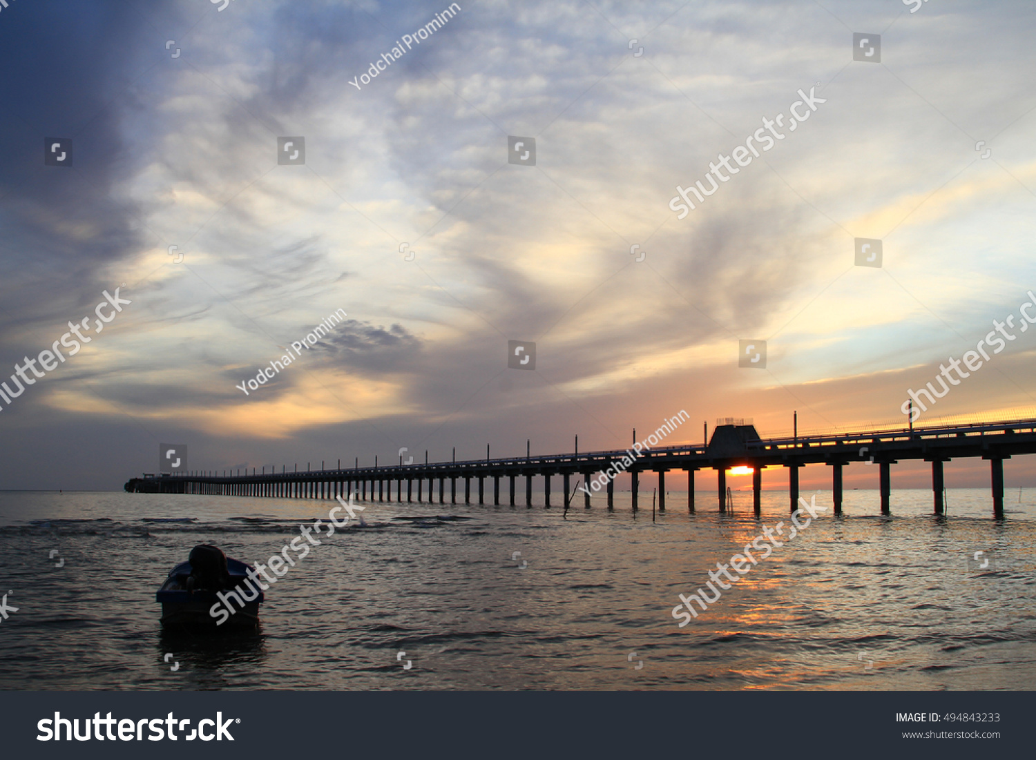 Harbor sea view on morning time stock photo 494843233 for Seaview fishing pier