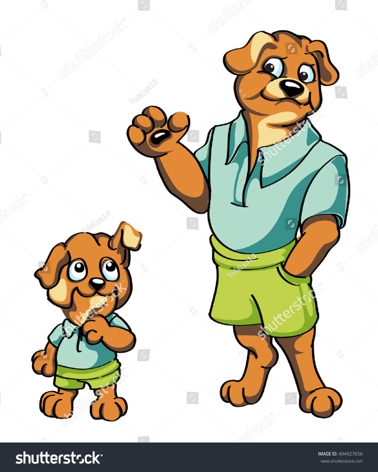 vector cartoon characters adult dog puppy stock vector 494927656 rh shutterstock com vector cartoon characters superhero free vector disney cartoon characters