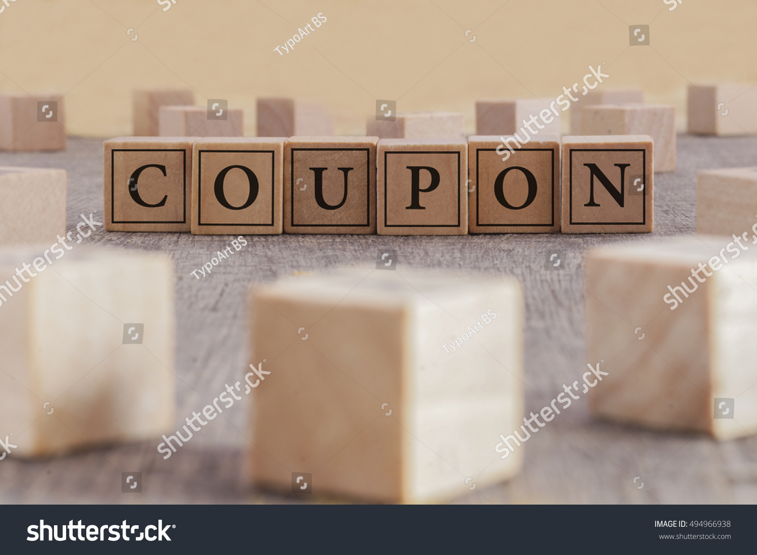 Coupon Word Written On Building Blocks Stock Photo Edit Now