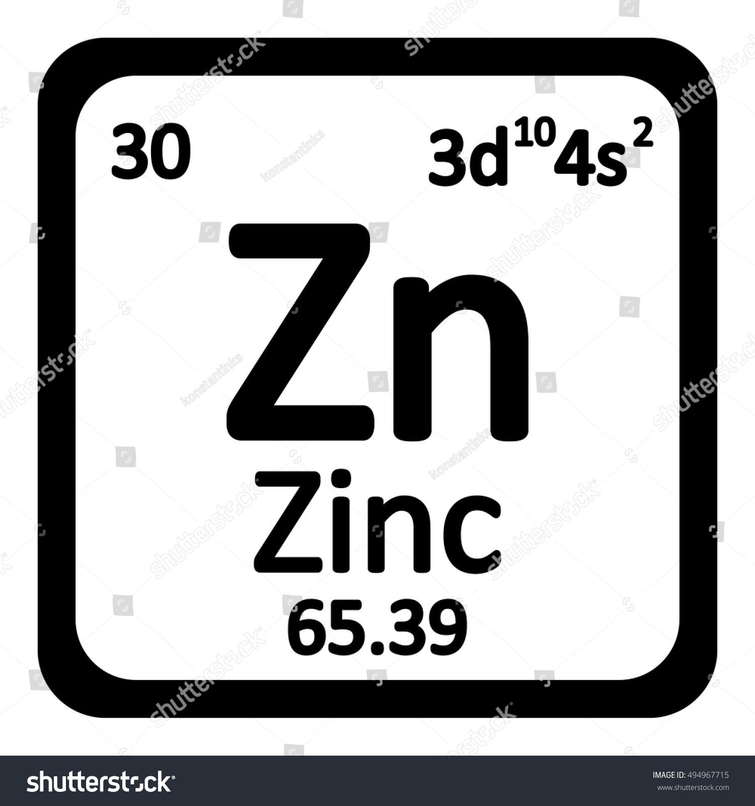 Periodic table element zinc icon on stock vector 494967715 periodic table element zinc icon on white background vector illustration gamestrikefo Gallery