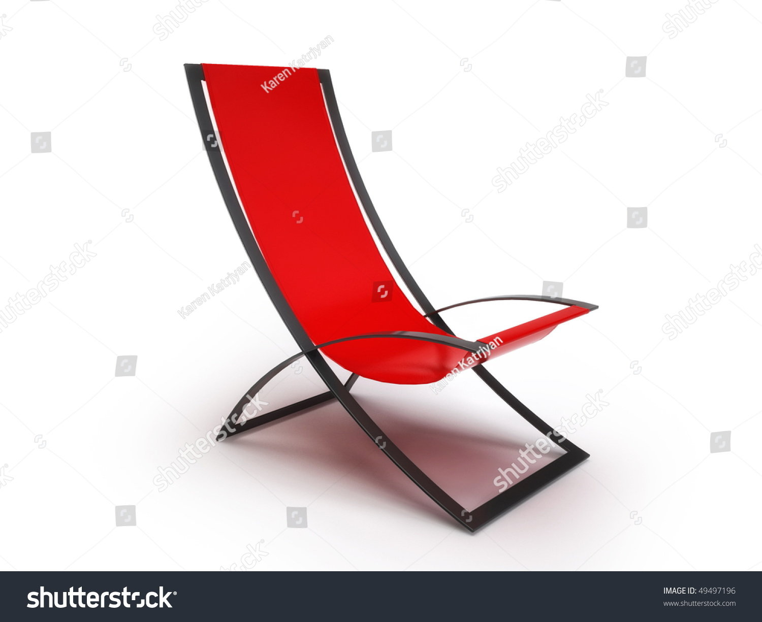 Modern chaise longue chair isolated on white background for Chaise longue moderne
