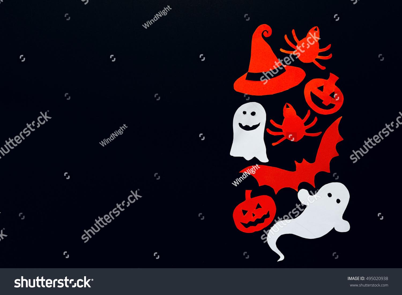 Happy Halloween Background Border Ghost Pumpkins Stock Photo 100
