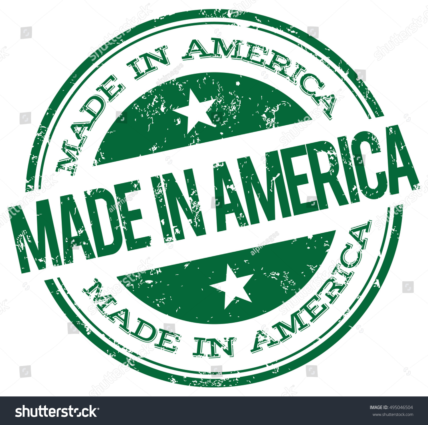 Made america green stamp stock vector 495046504 shutterstock made in america green stamp biocorpaavc