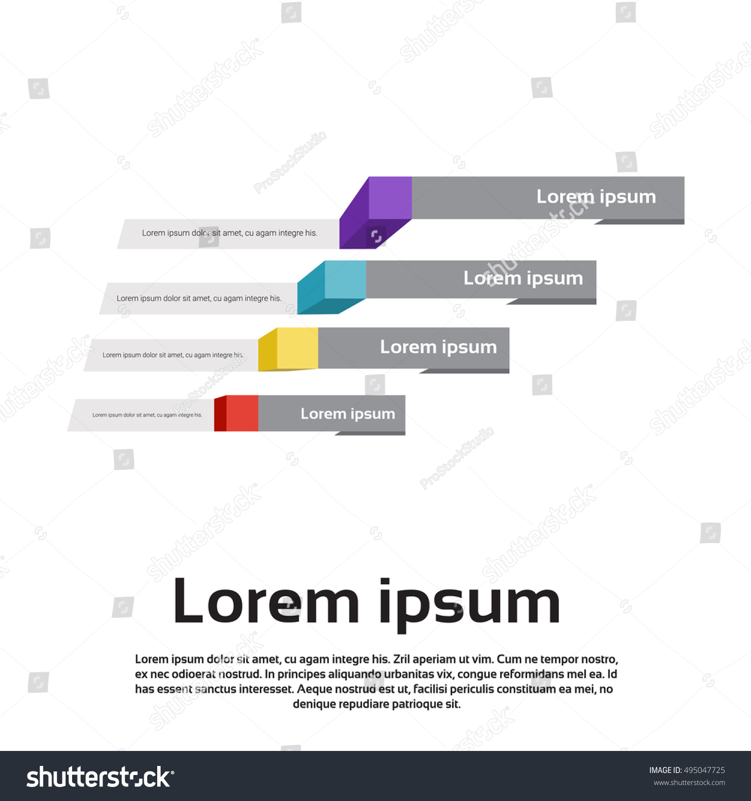Finance Graph: Graph Set Finance Infographic Icon Colorful Stock Vector