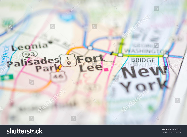 Fort Lee New Jersey Map.Fort Lee New Jersey Usa Ez Canvas
