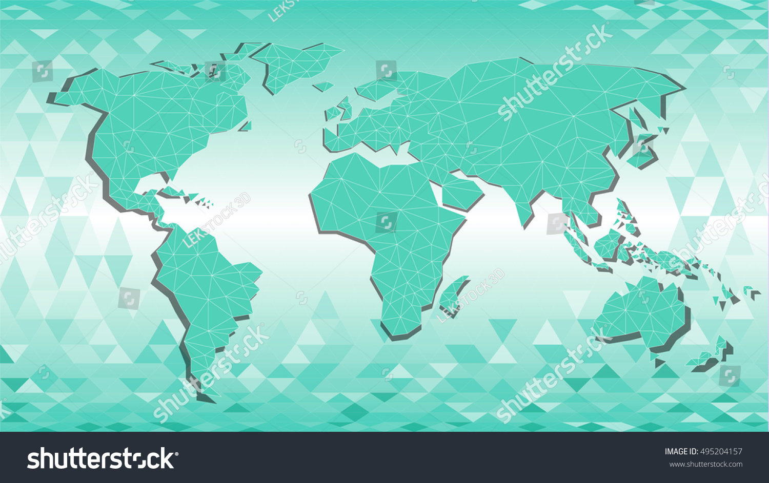 Polygonal abstract world map triangle line vectores en stock polygonal abstract world map triangle line stel color polygonal background vector illustation gumiabroncs Image collections