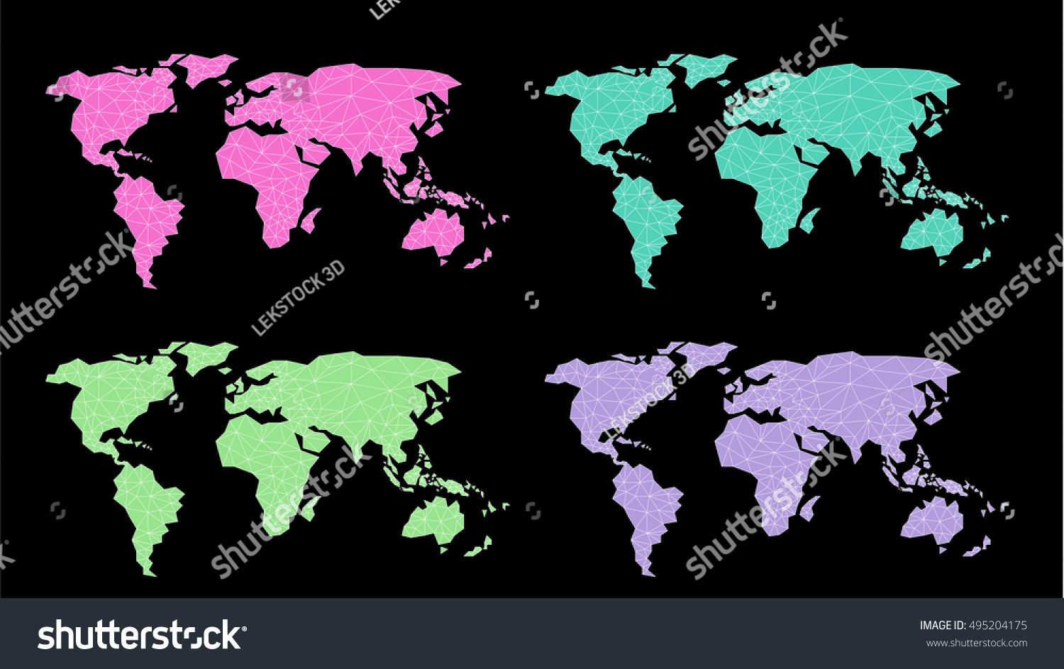 Polygonal abstract world map triangle line stock vector 2018 polygonal abstract world map triangle line stel colorvector illustation gumiabroncs Gallery
