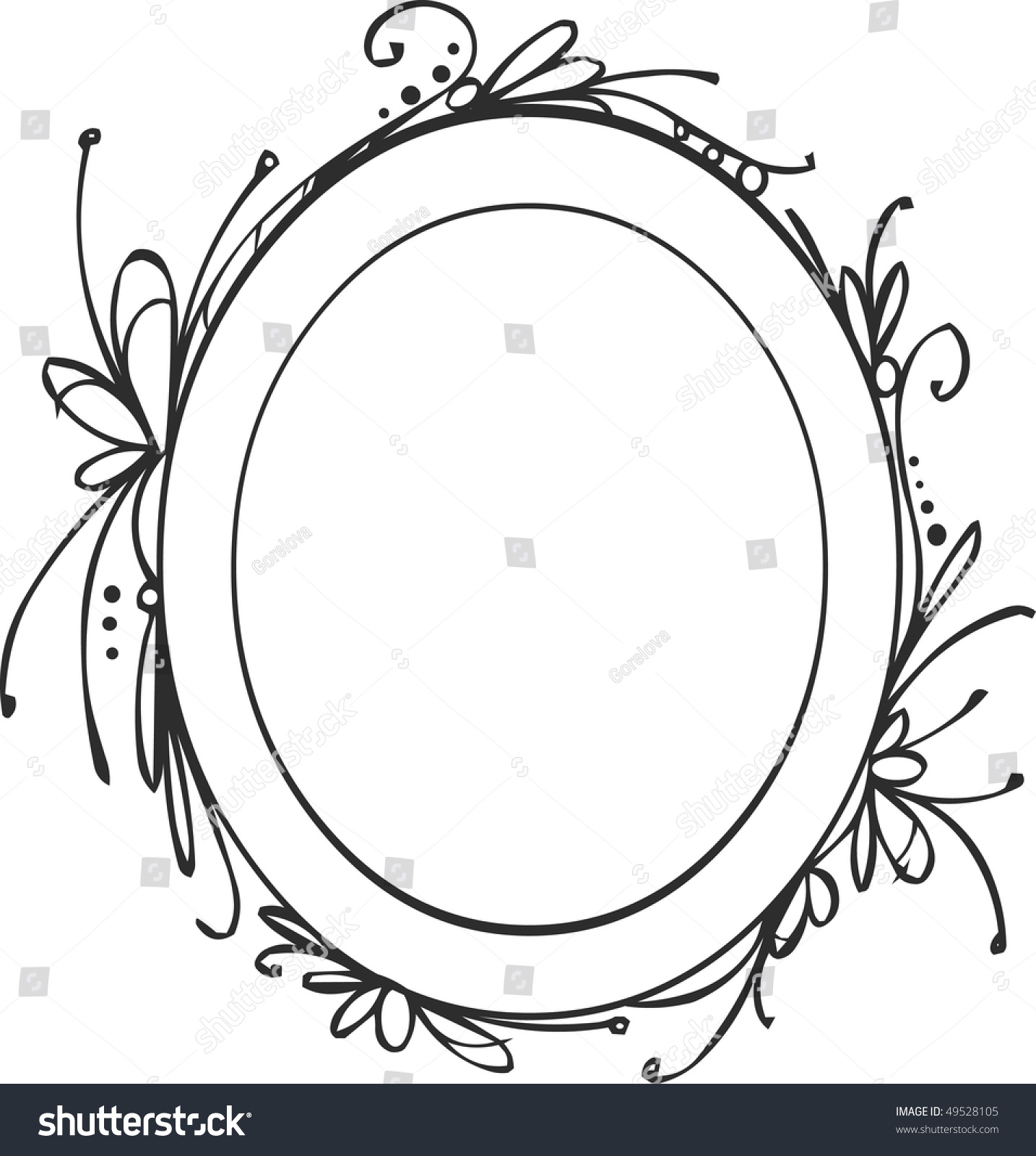 decorative hand drawing frame
