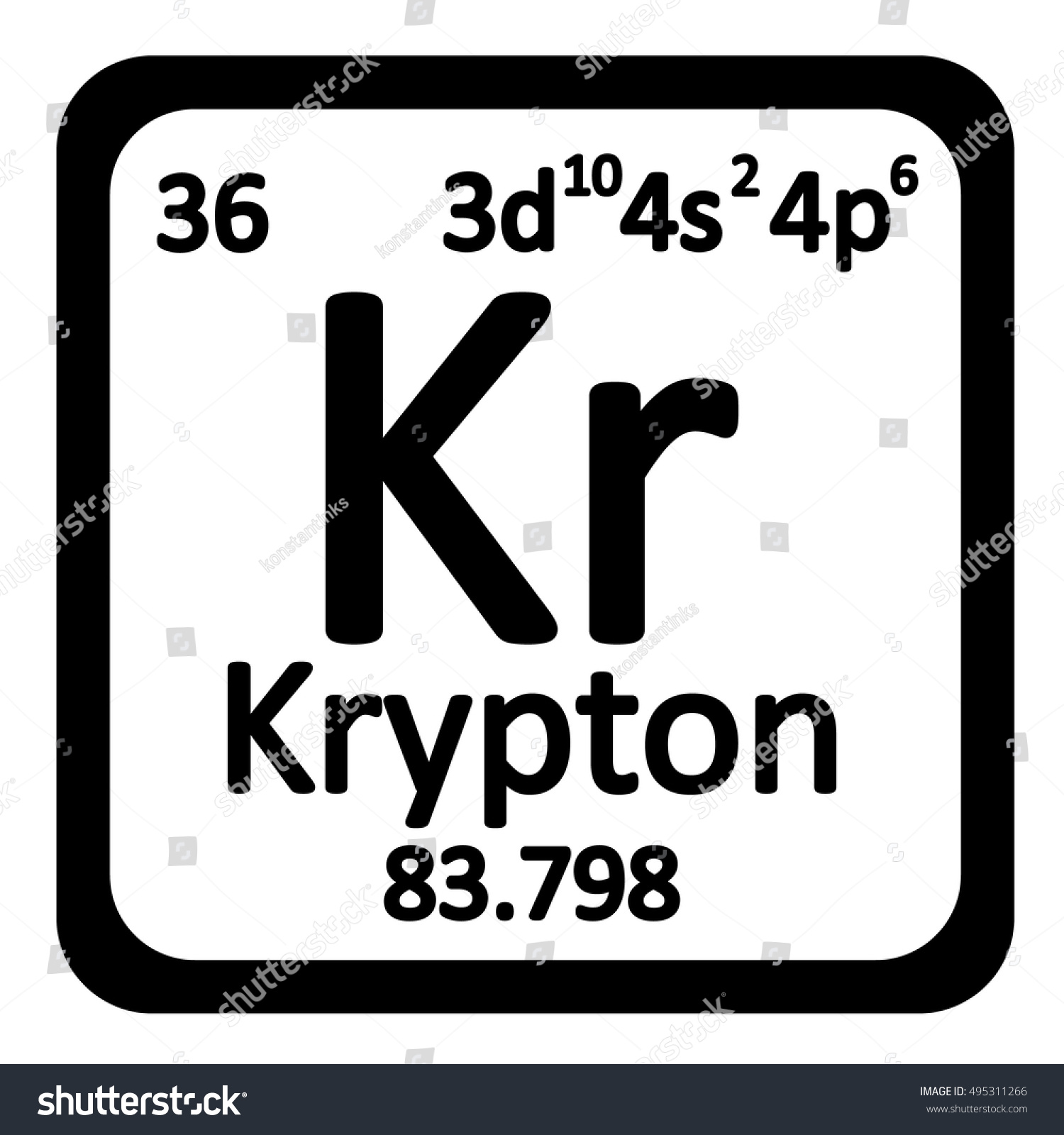 Periodic table element krypton icon on stock vector 495311266 periodic table element krypton icon on white background vector illustration gamestrikefo Image collections