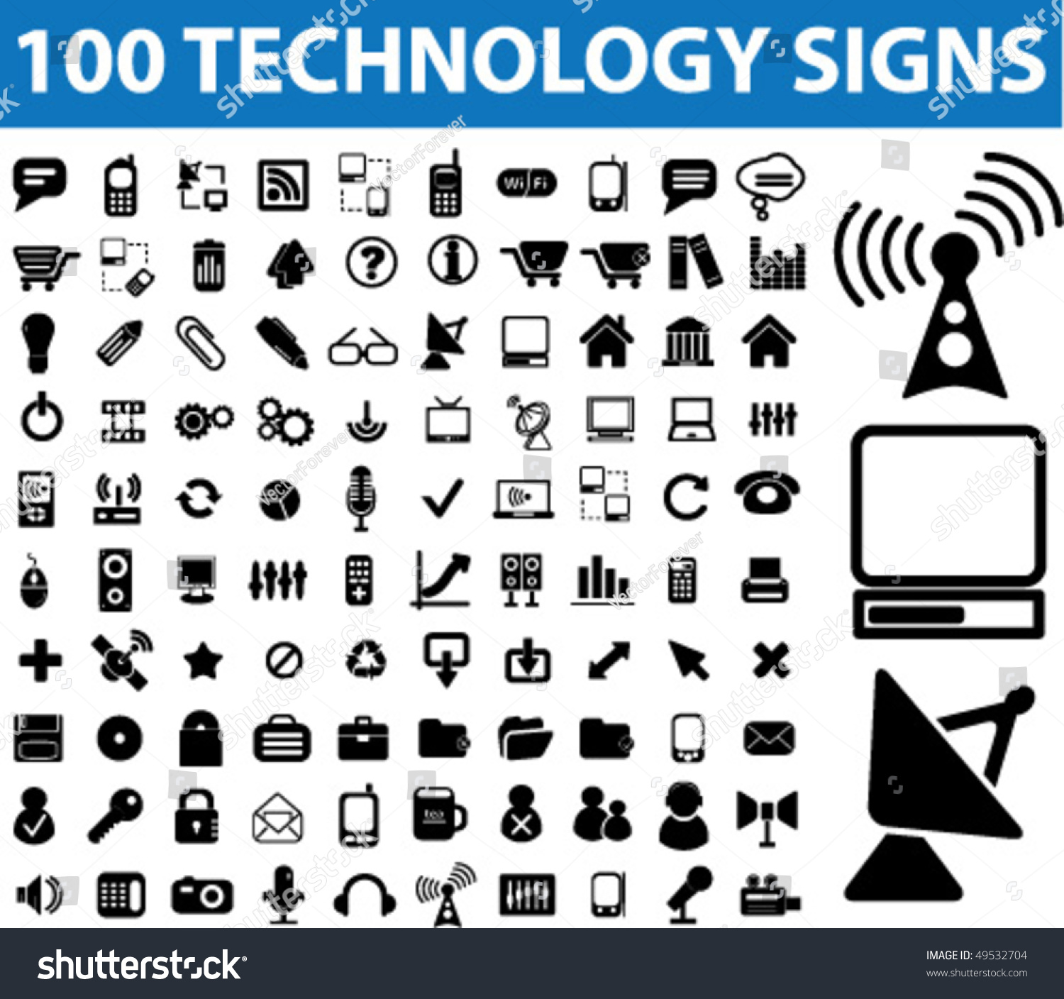 technology signs vector shutterstock remote control icon