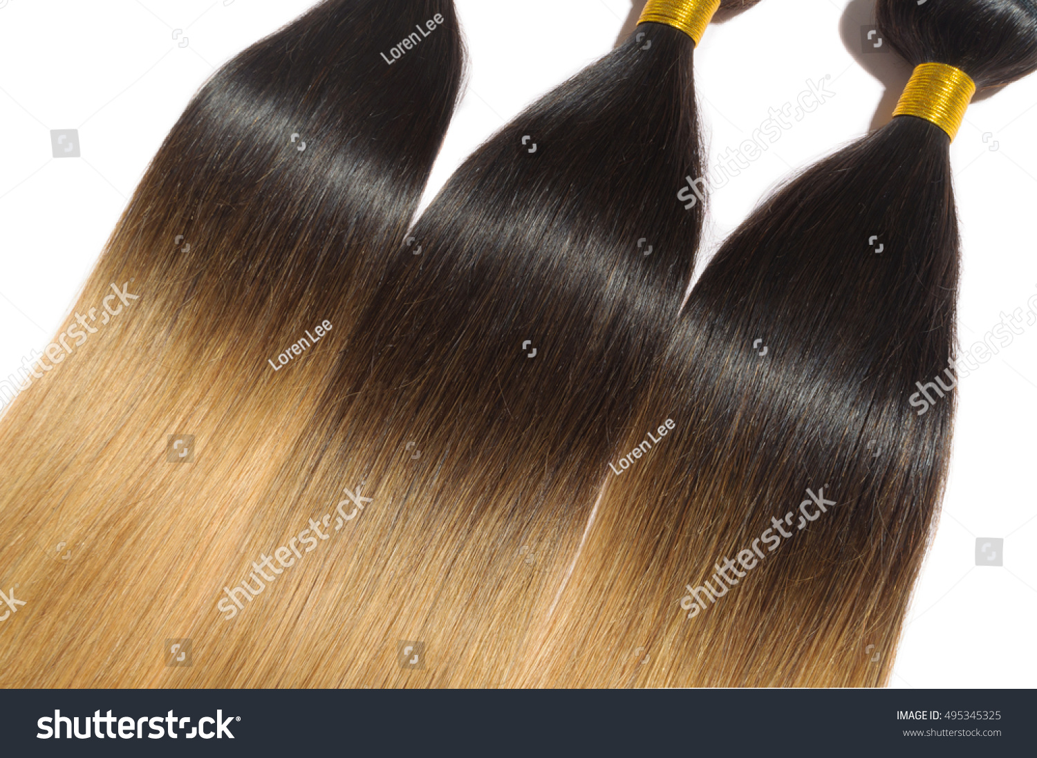 Beautiful Straight Ombre Two Tone Black Stock Photo Edit Now