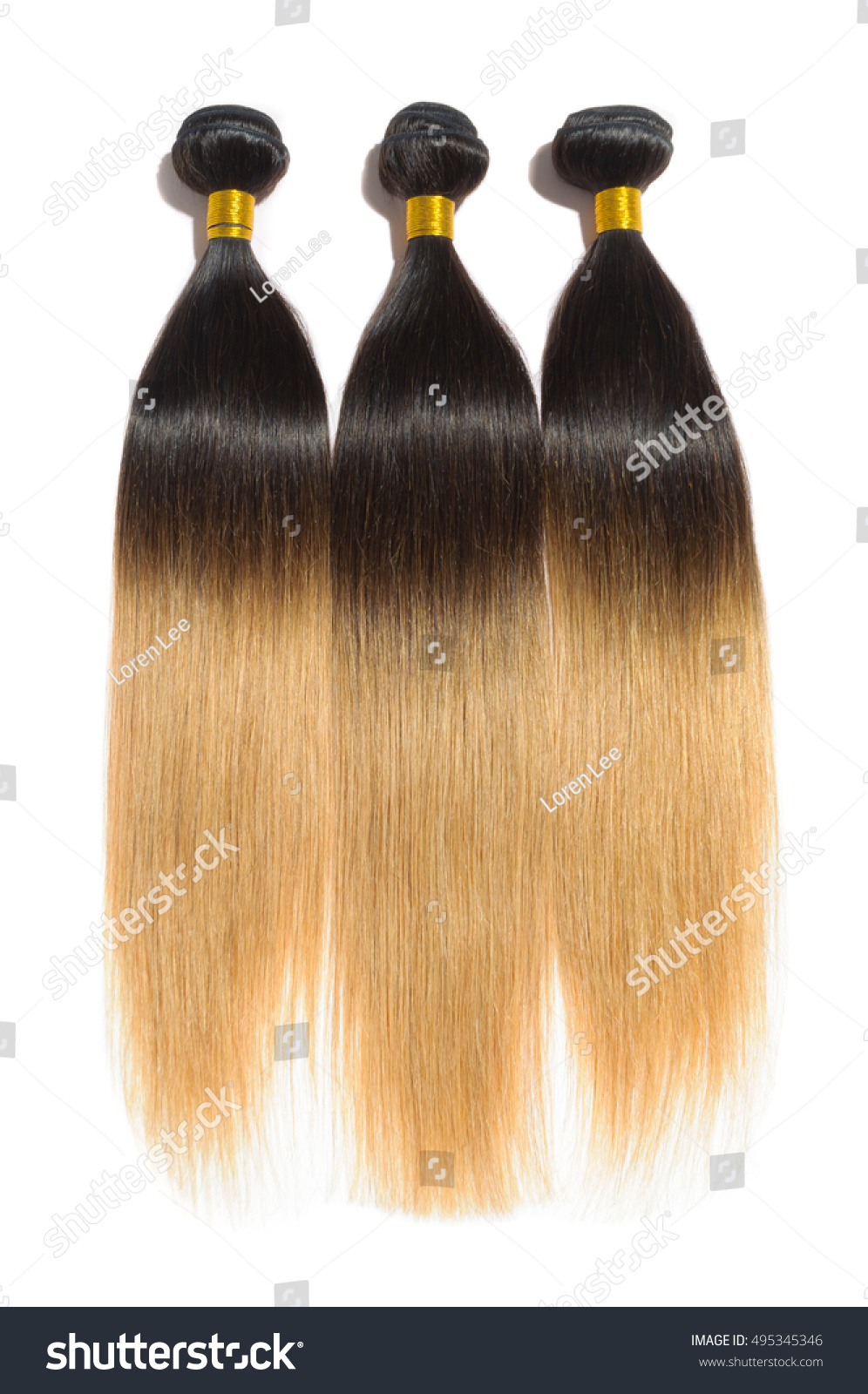 Beautiful Straight Ombre Two Tone Black Stock Photo Image Royalty