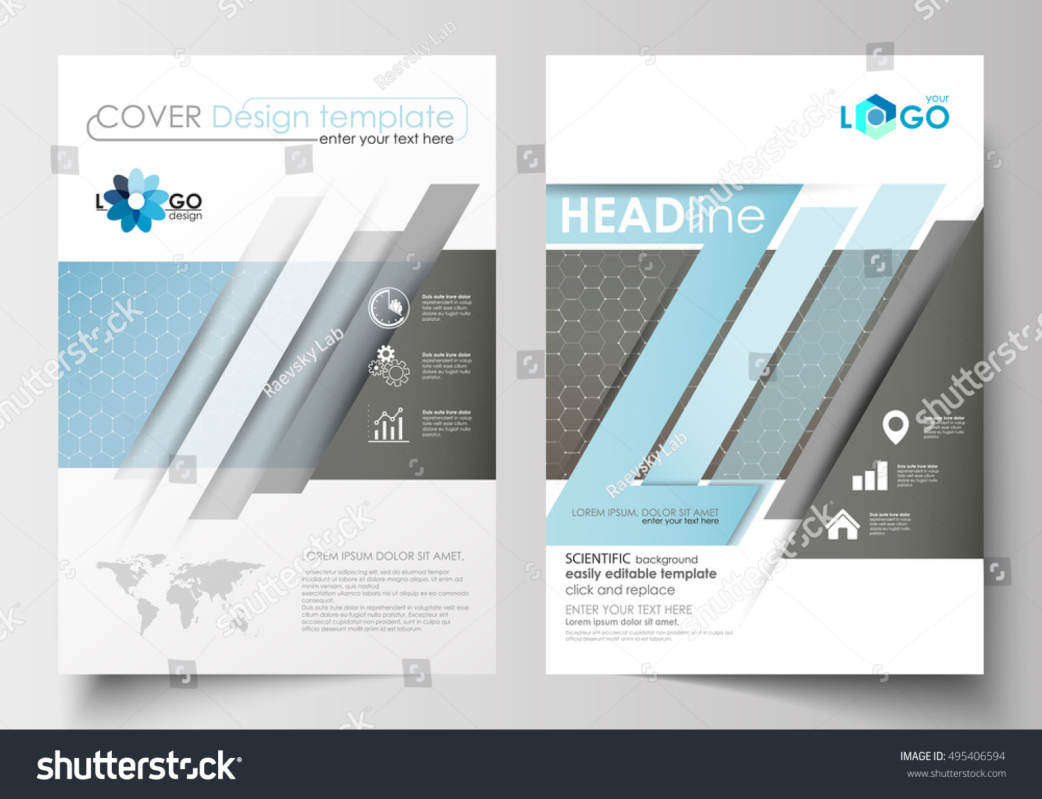 Templates Brochure Magazine Flyer Booklet Cover Stock Photo (Photo ...