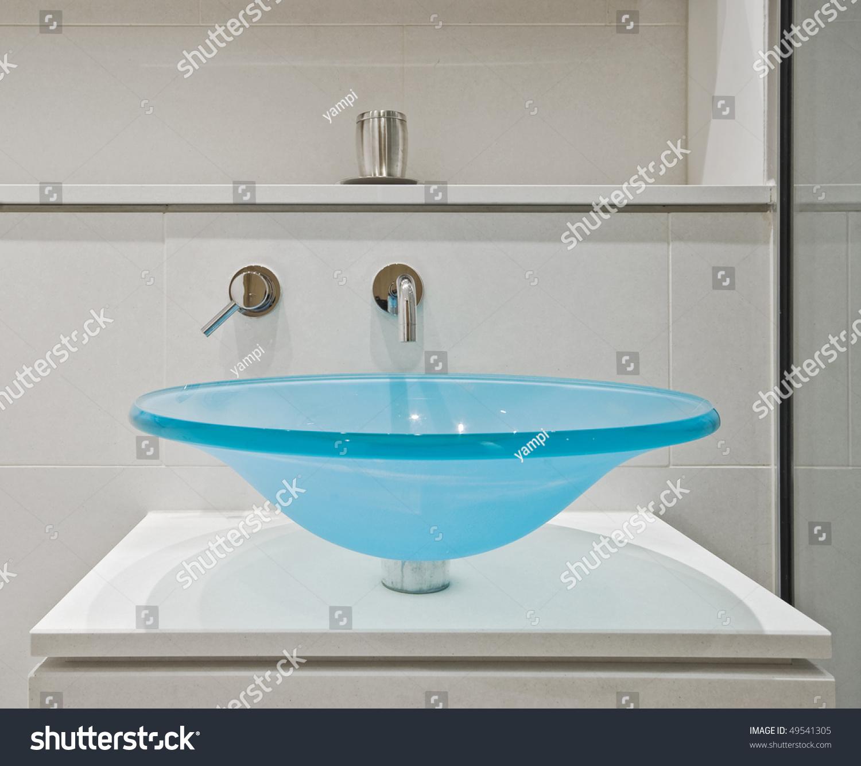 Contemporary Designer Glass Hand Wash Basin Stock Photo (Edit Now ...