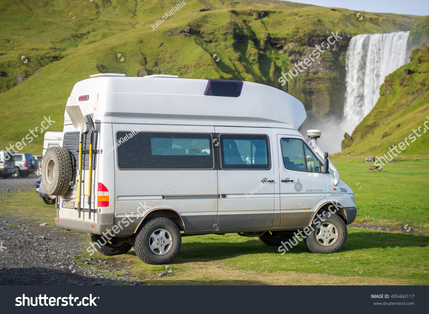 Iceland september 16 2015 mercedes benz stock photo for Mercedes benz camper van