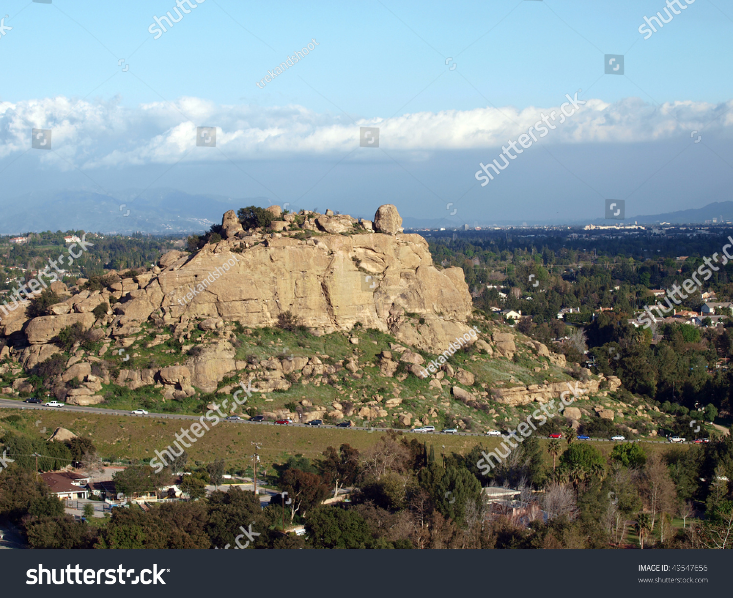 famous stoney point climbing rock western stock photo