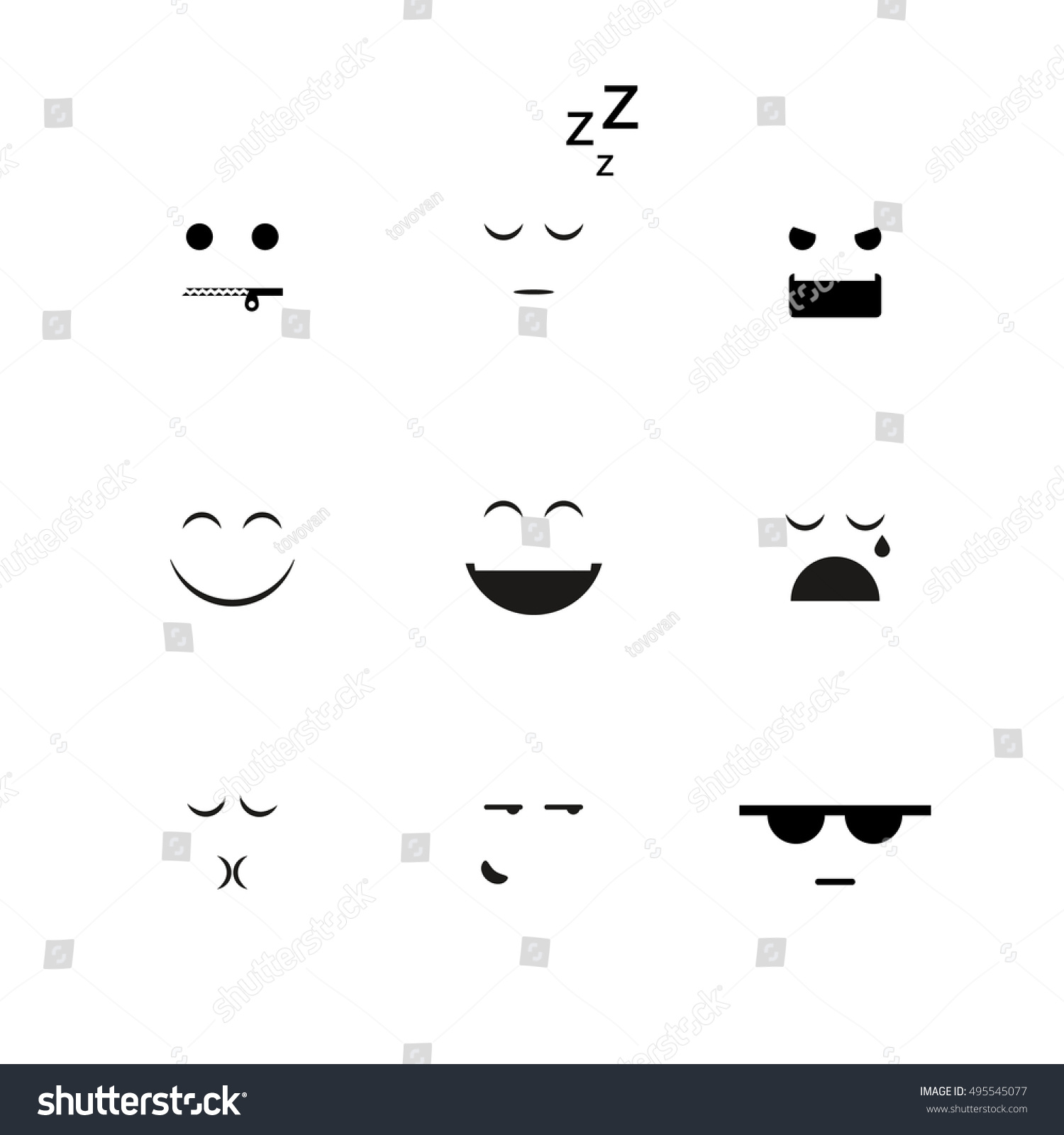collection different emoji vector clipart stock vector 495545077 rh shutterstock com free vector clipart collections Mega Art Collections