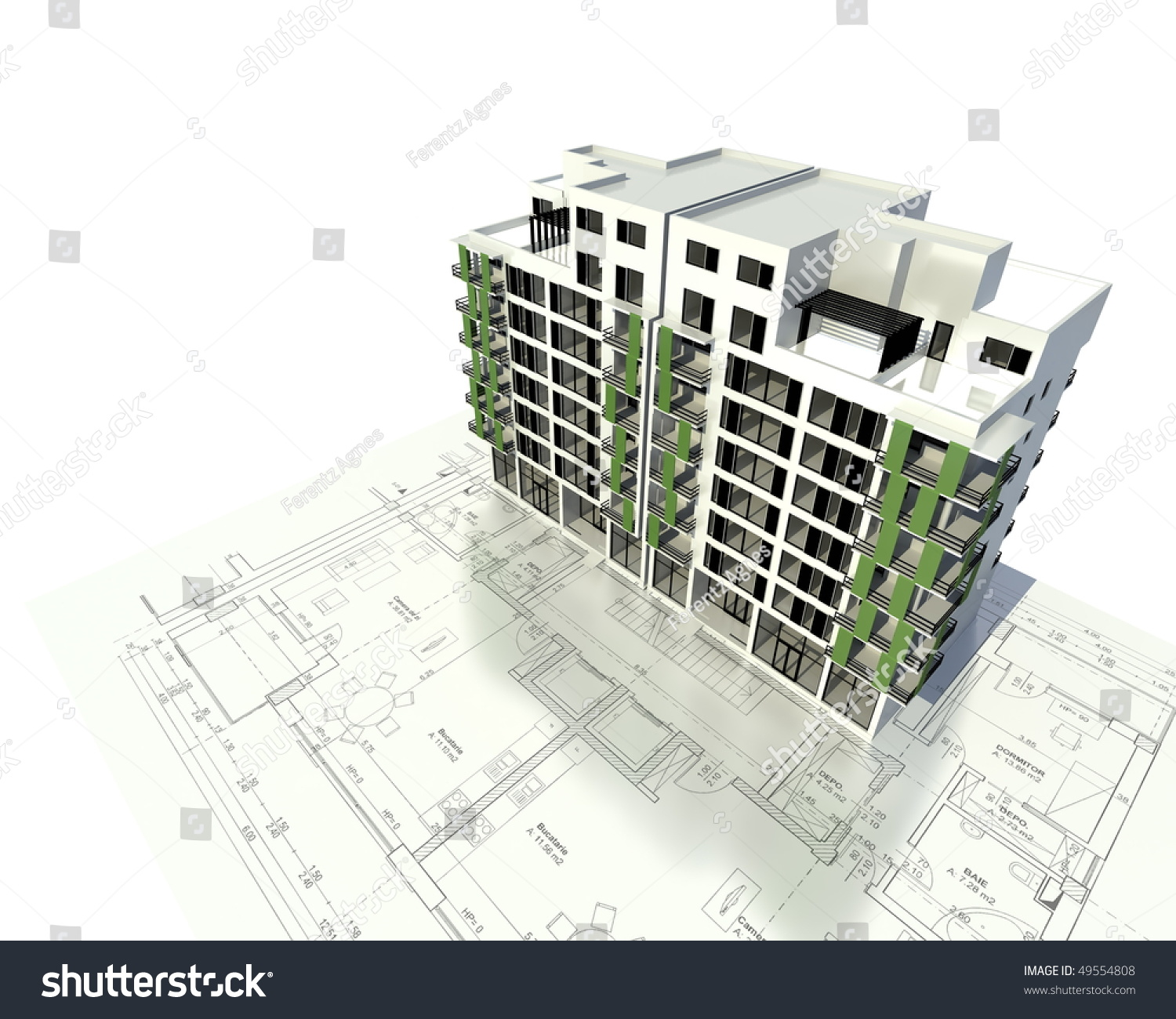 Architecture Model House Showing Building Structure Stock ...
