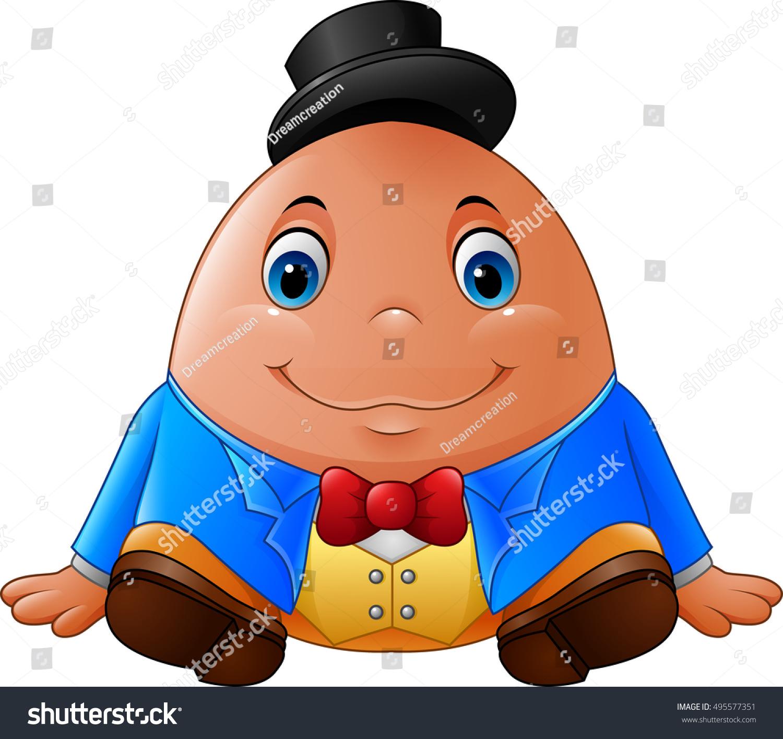 Cartoon Humpty Dumpty Stock Vector Royalty Free 495577351