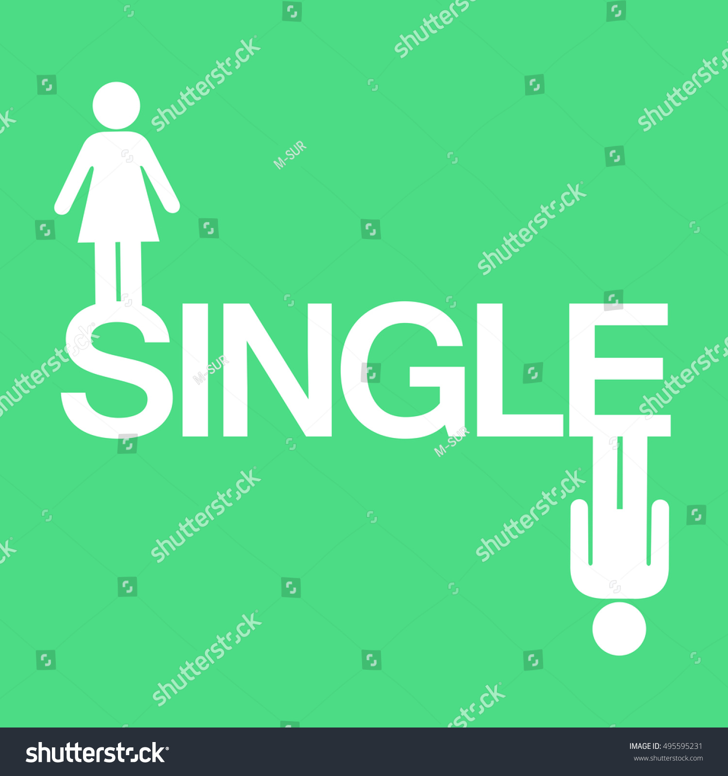 Single Avoiding Love Relationship Text Symbol Stock Vector Royalty