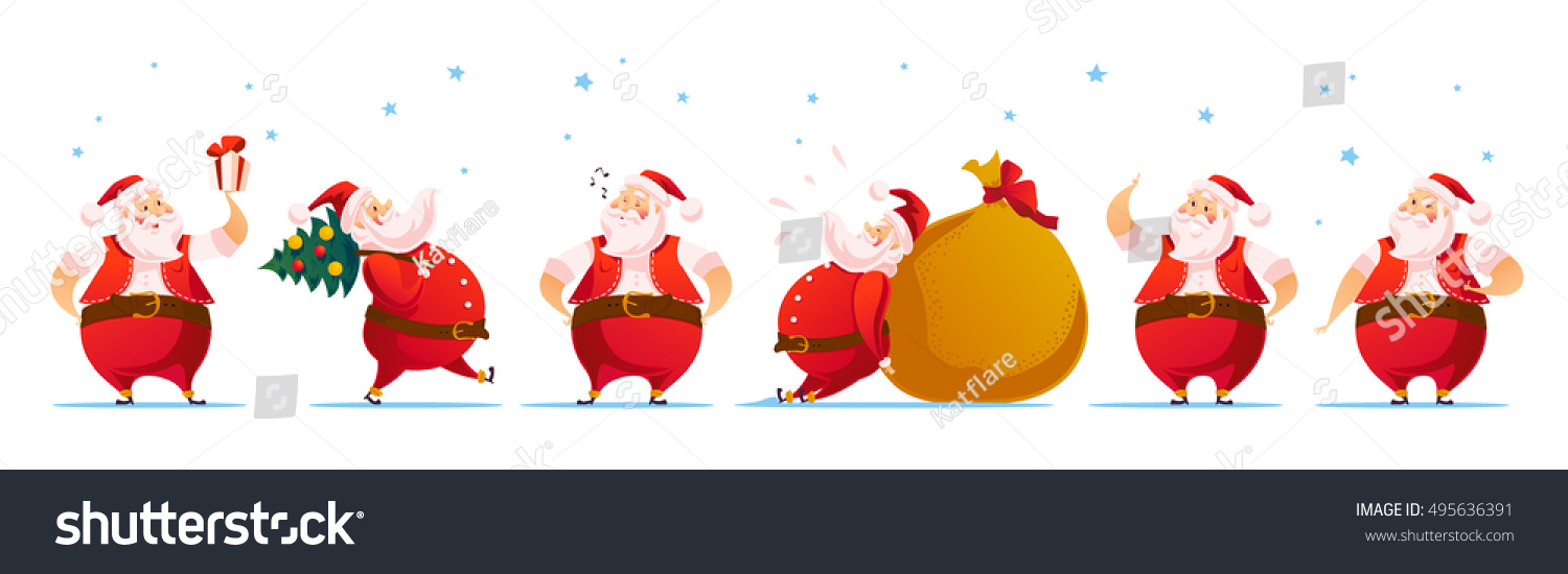 Vector Merry Christmas Happy New Year Stock Vector (Royalty Free ...