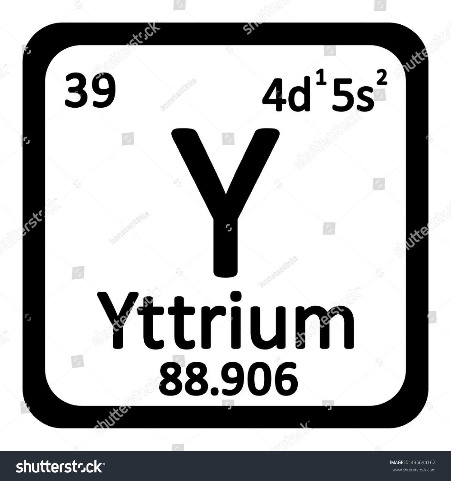 Periodic table element krypton icon examples of mechanical periodic table element yttrium icon quadrant diagram stock vector periodic table element yttrium icon on white gamestrikefo Images
