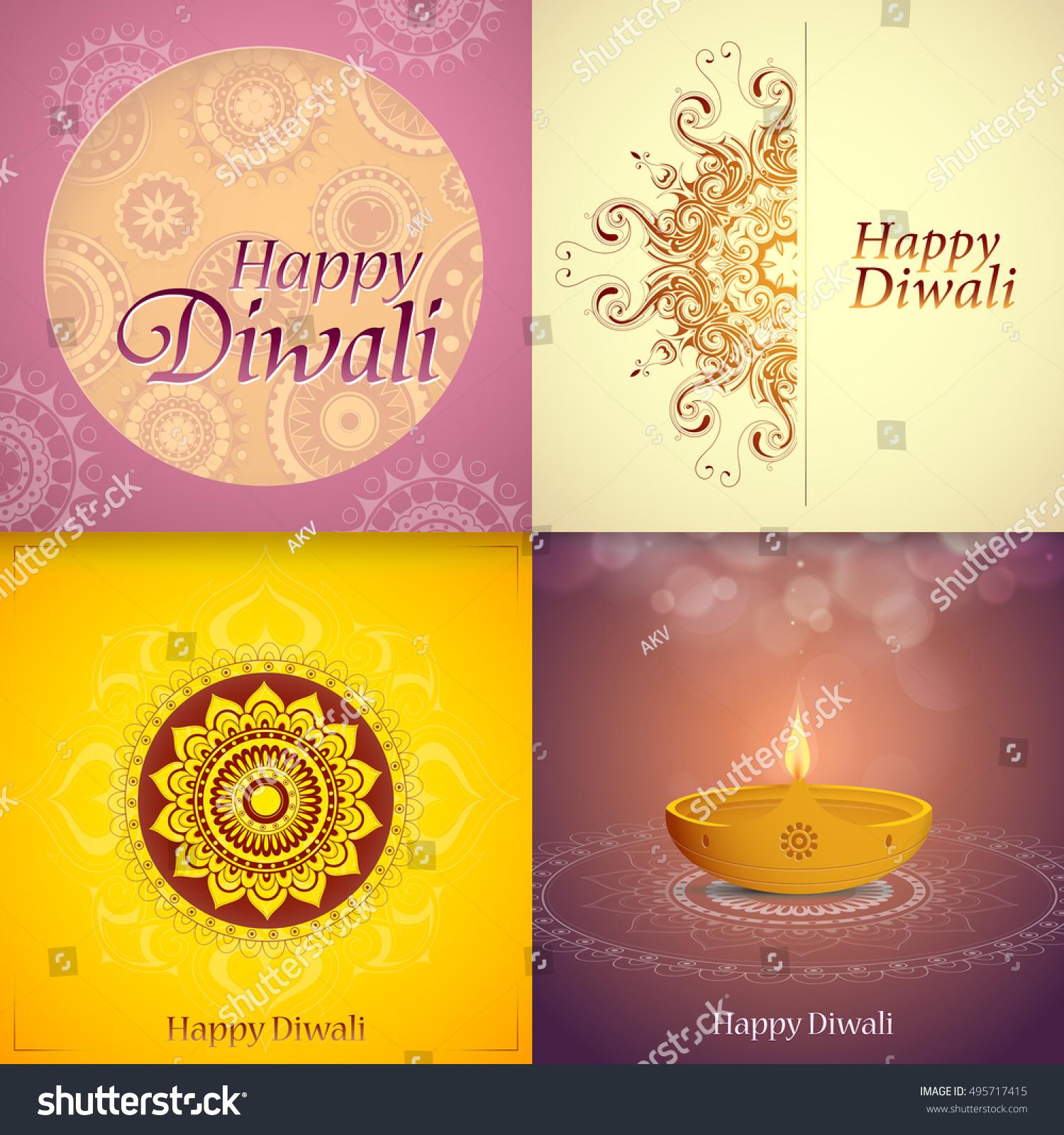 Set indian festival diwali greeting cards stock vector 495717415 set indian festival diwali greeting cards stock vector 495717415 shutterstock m4hsunfo