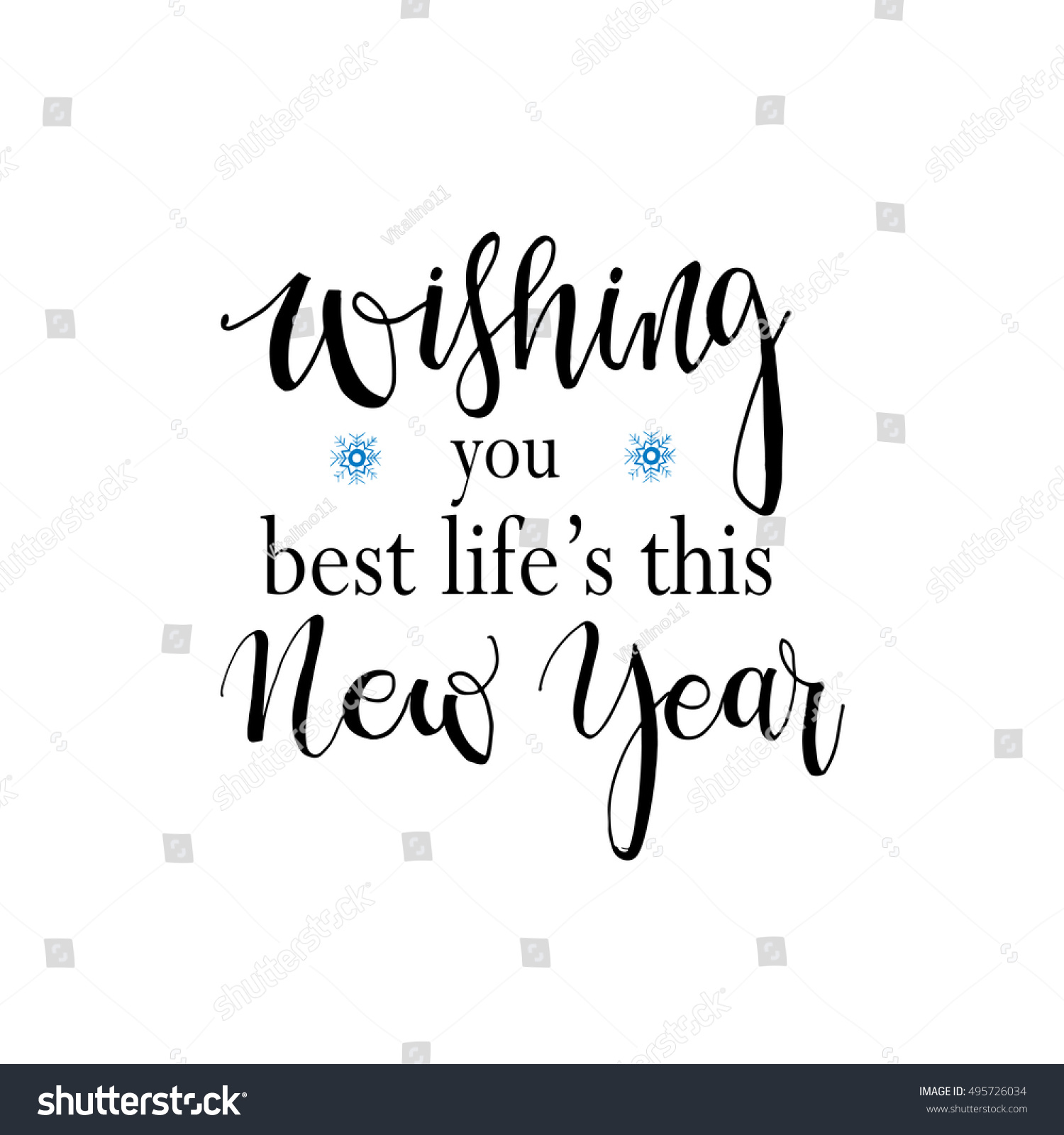 Wishing You Best Lifes This New Stock Vector (Royalty Free ...