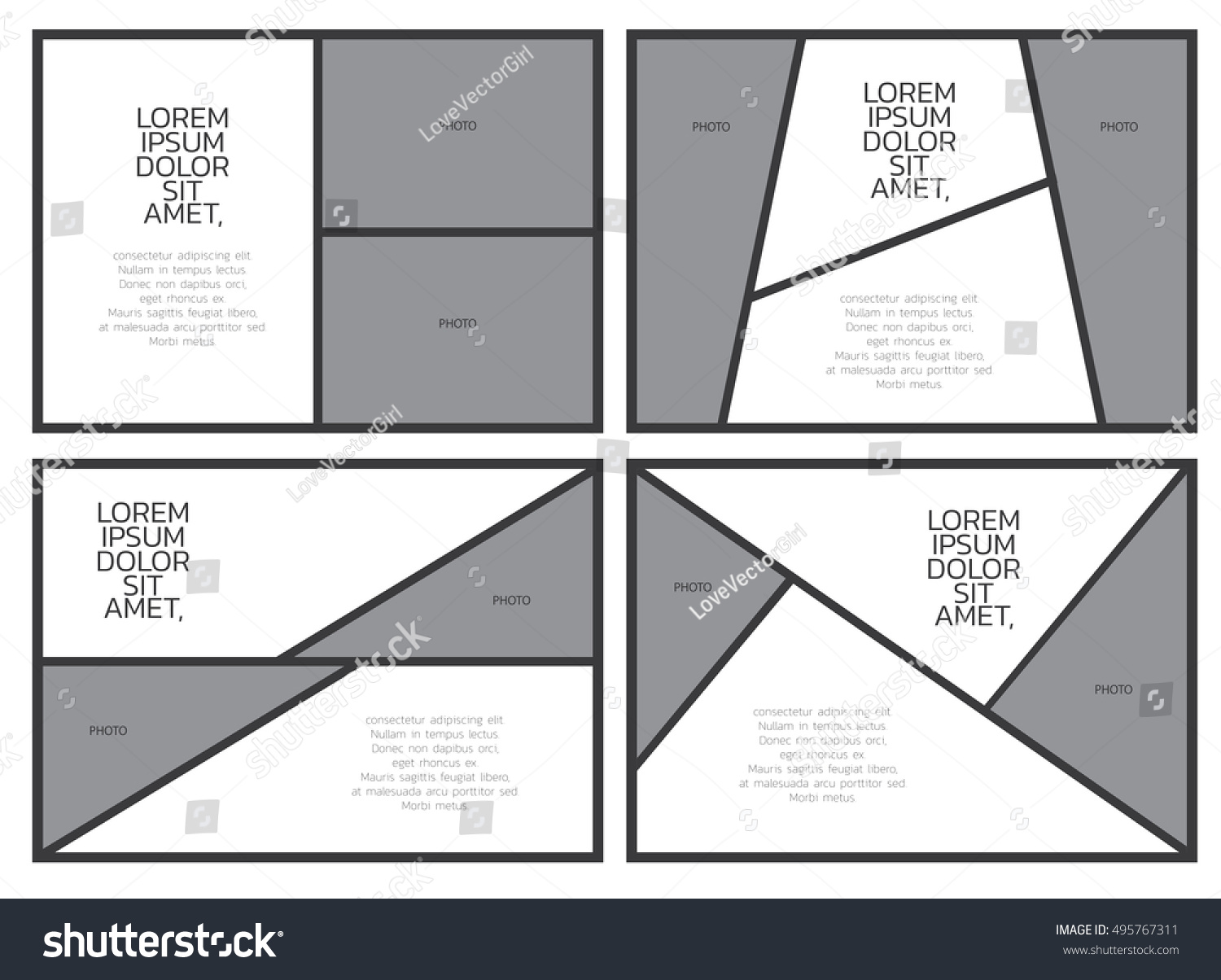 Comic paper template comic frame letter stock vector 495767311 comic paper template comic frame for letter and photo black and white color tone pronofoot35fo Gallery
