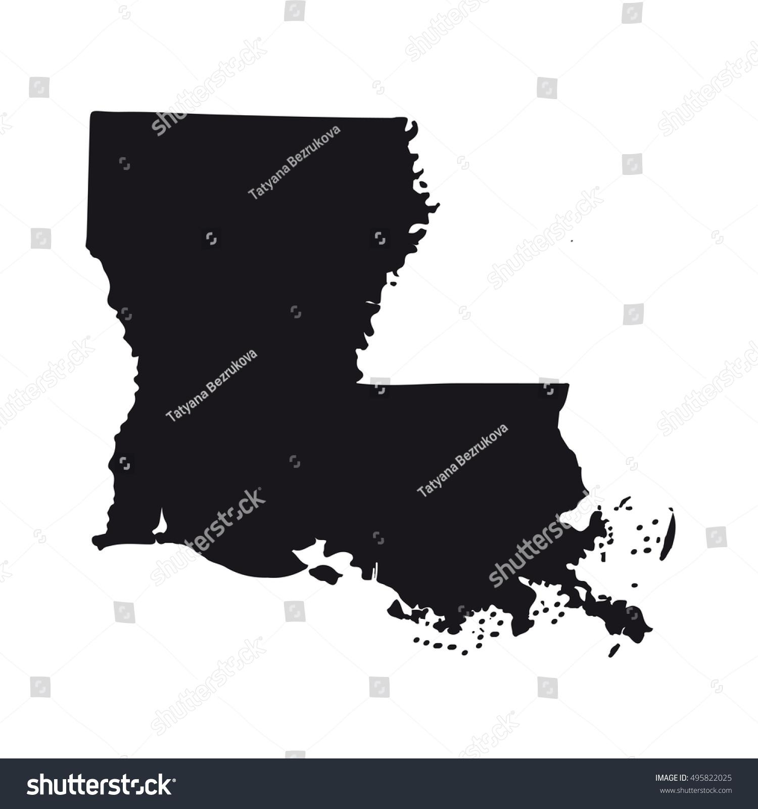 Louisiana On Usa Map Louisiana On A Map Of The Usa Thirteen