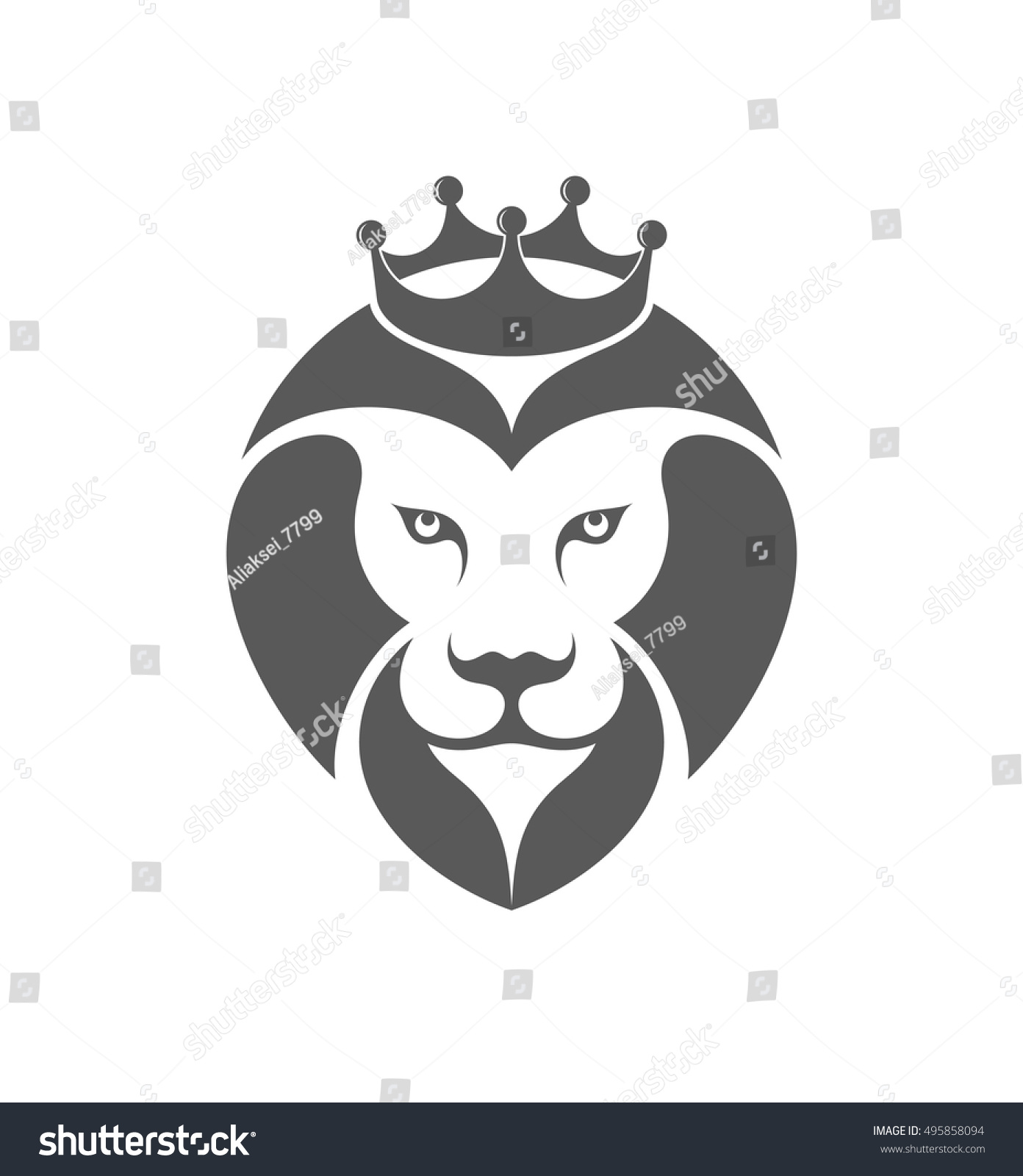 Blue lion logo with crown - photo#55
