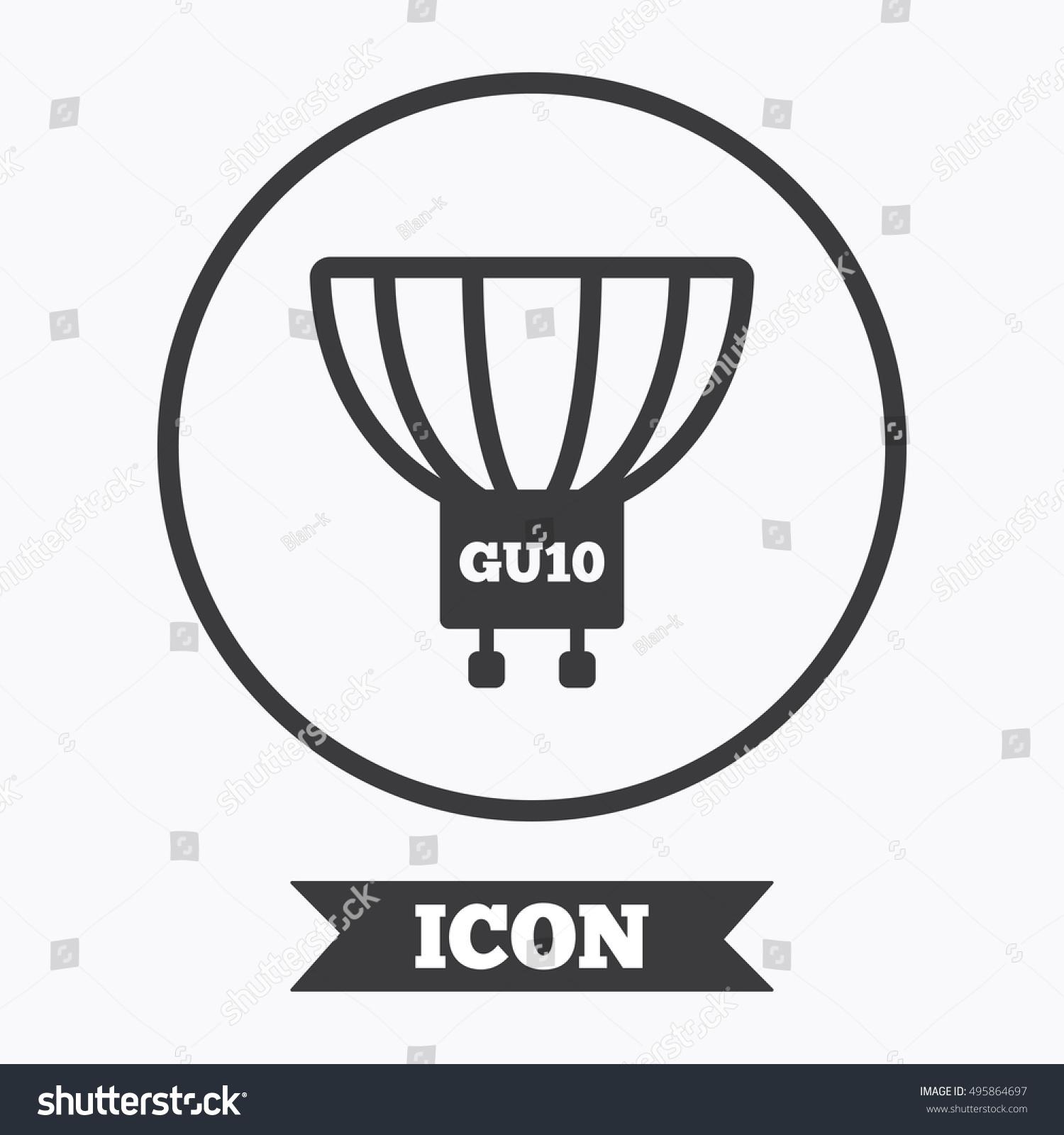 Light Bulb Icon Lamp GU 10 Socket Stock Vector 495864697 - Shutterstock